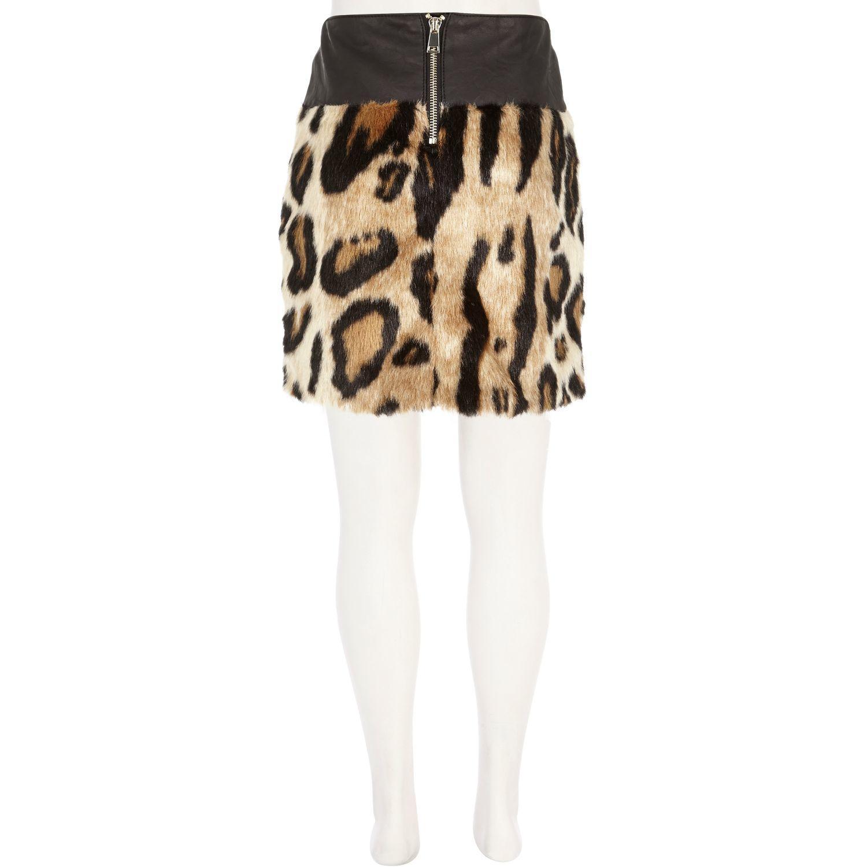 River Island Leopard Skirt