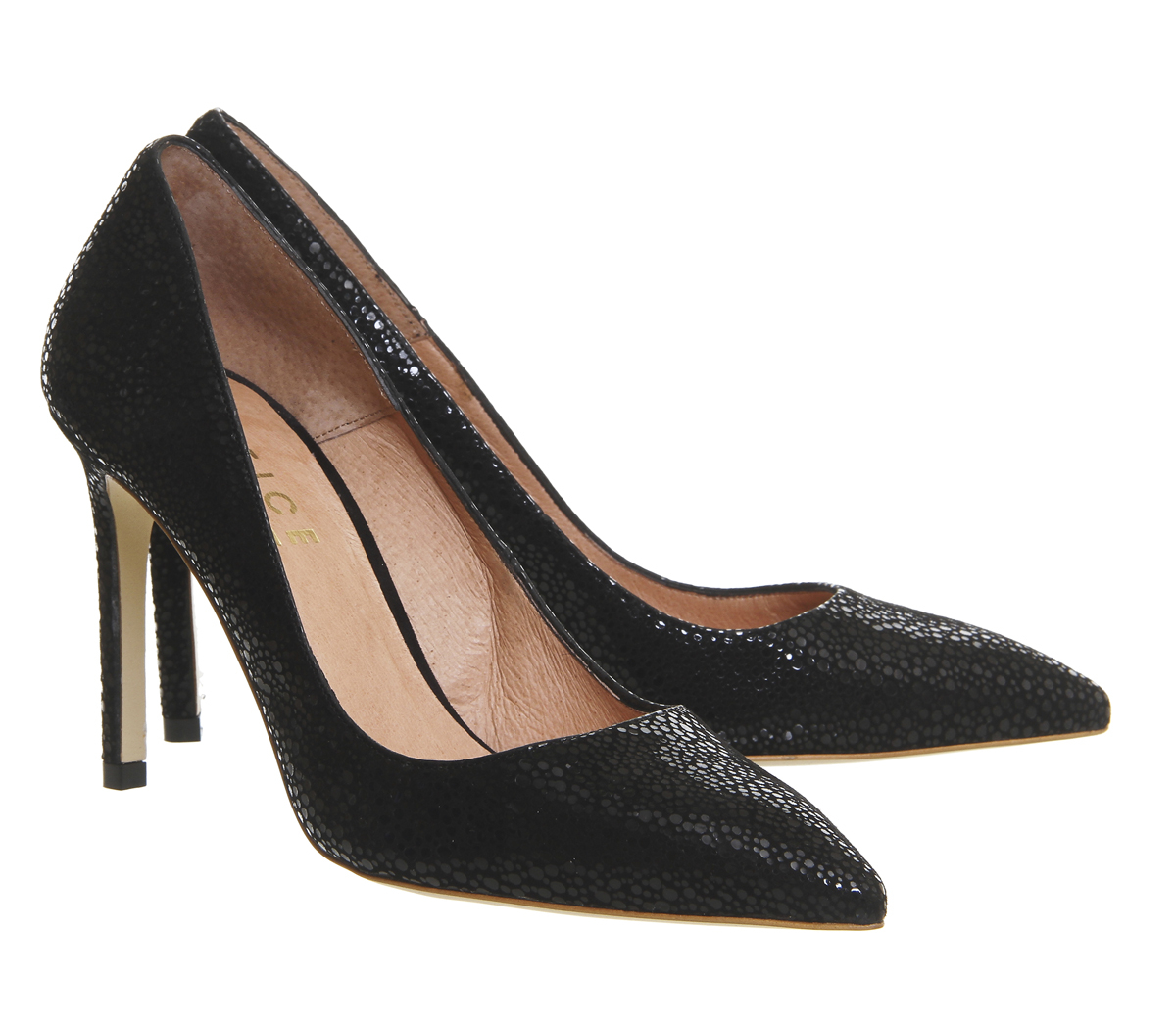 office playful point court heels in black lyst