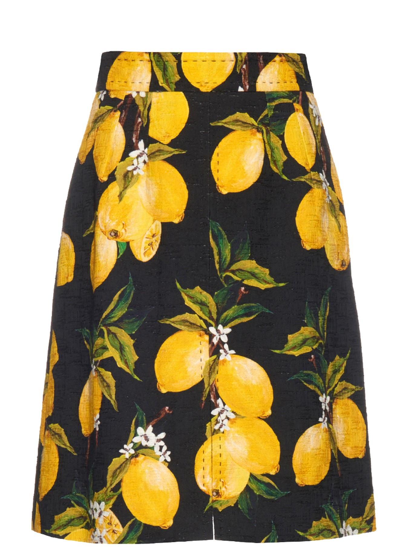 Lyst - Dolce   Gabbana Lemon-print A-line Skirt in Green 300f628aa856c