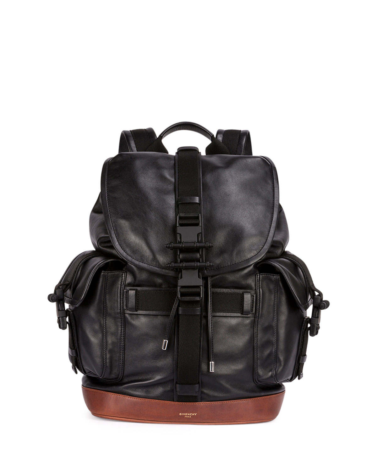 Givenchy Obsedia Men's Leather Flap Backpack in Black for Men | Lyst