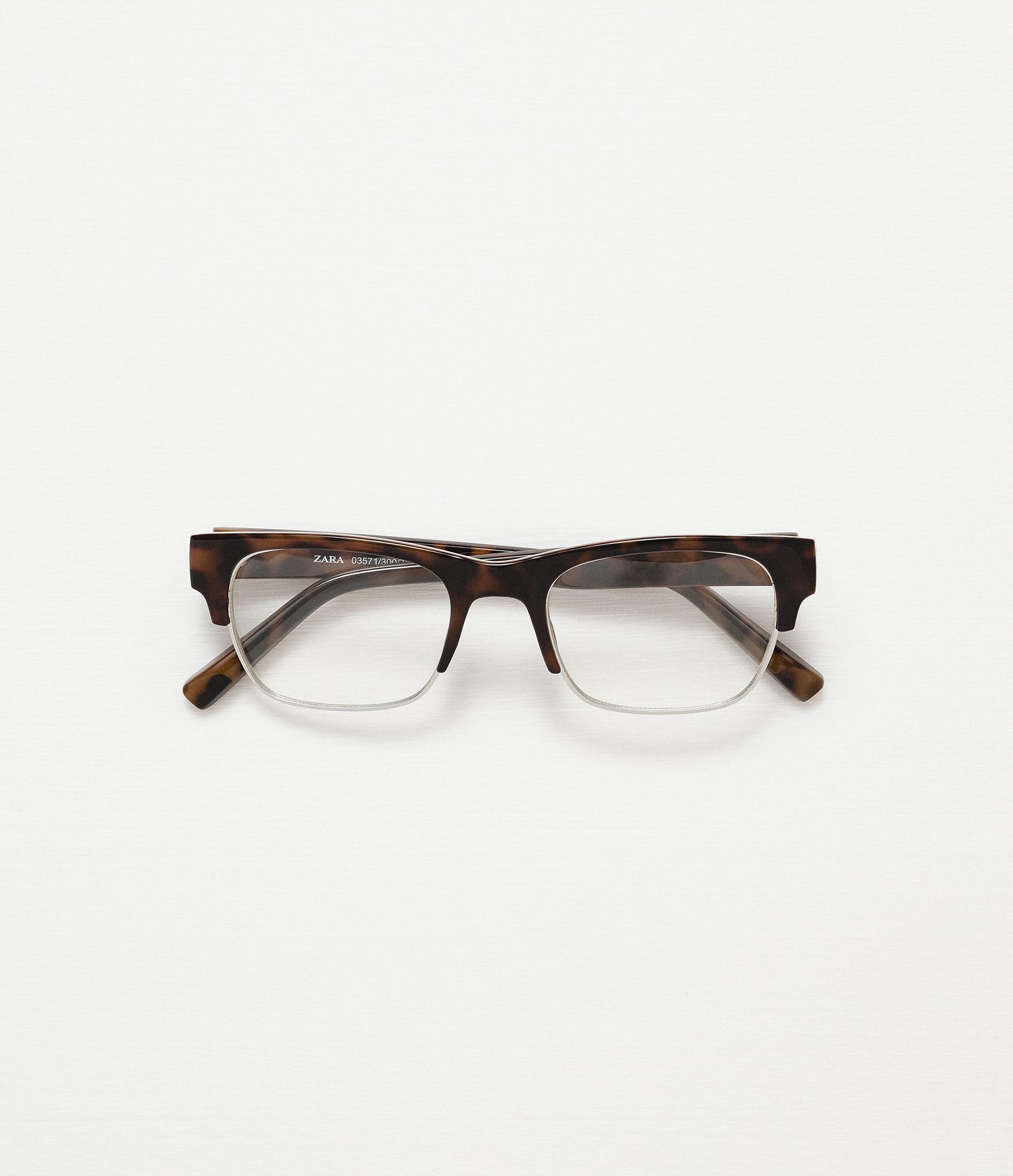 Zara Semi-rimless Tortoiseshell Sunglasses in Brown for ...