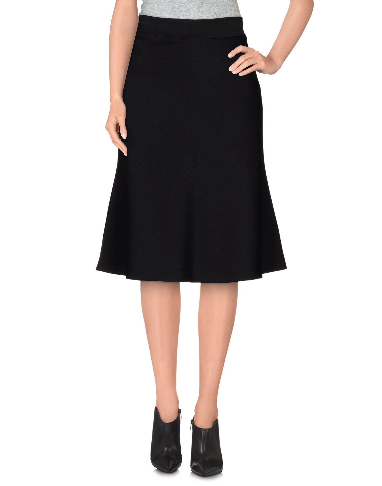 pianurastudio knee length skirt in black lyst