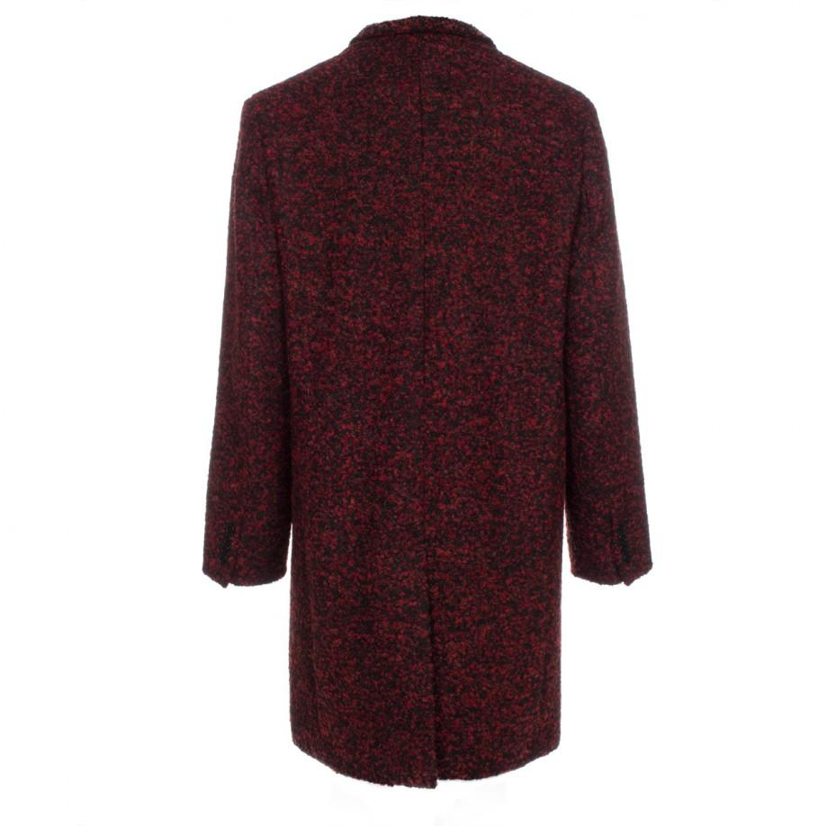 Paul smith men 39 s red boucl wool alpaca overcoat in red for Mens red wool shirt