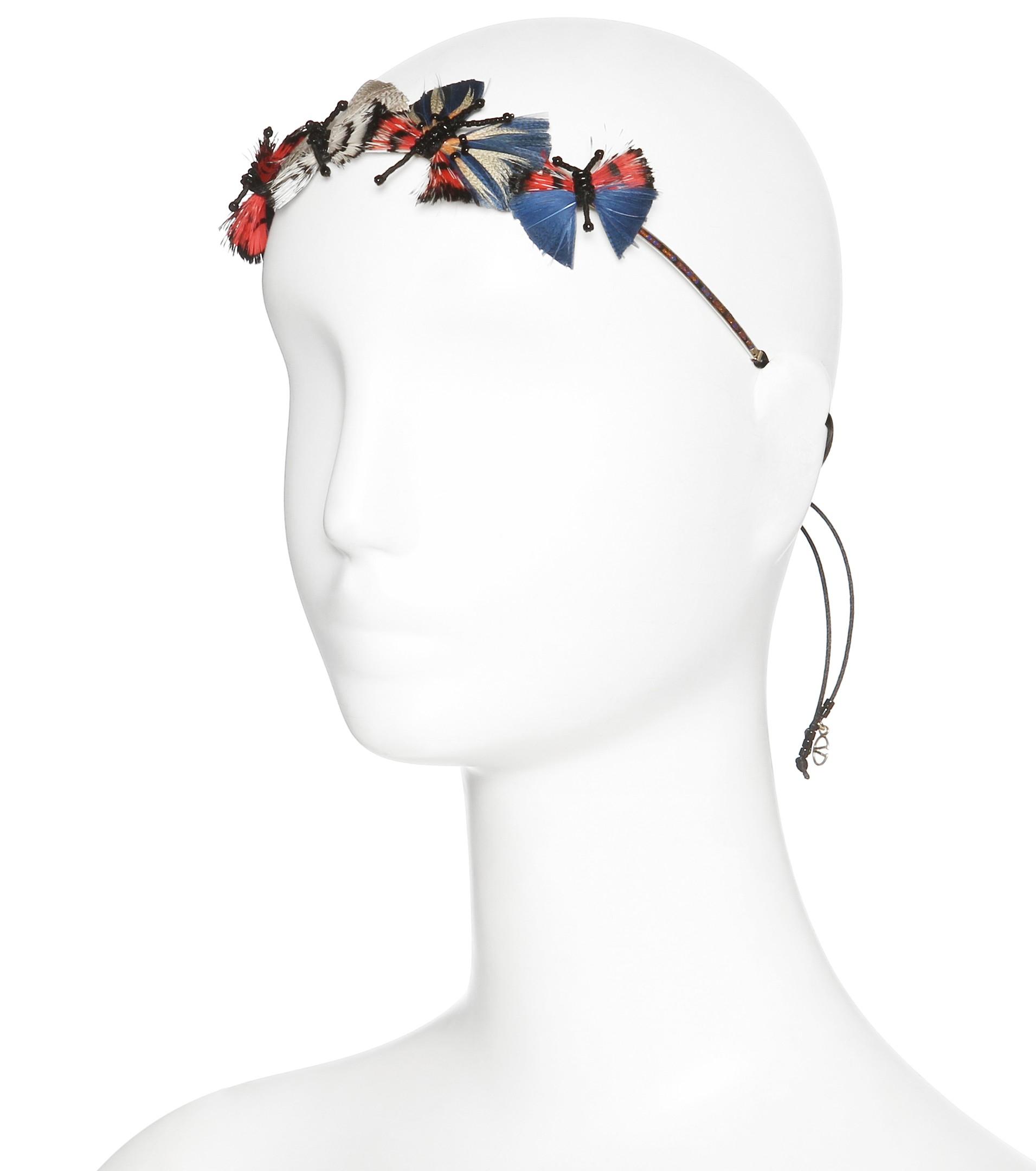Silver-tone Turquoise Headband - one size Valentino XlF8xR1j