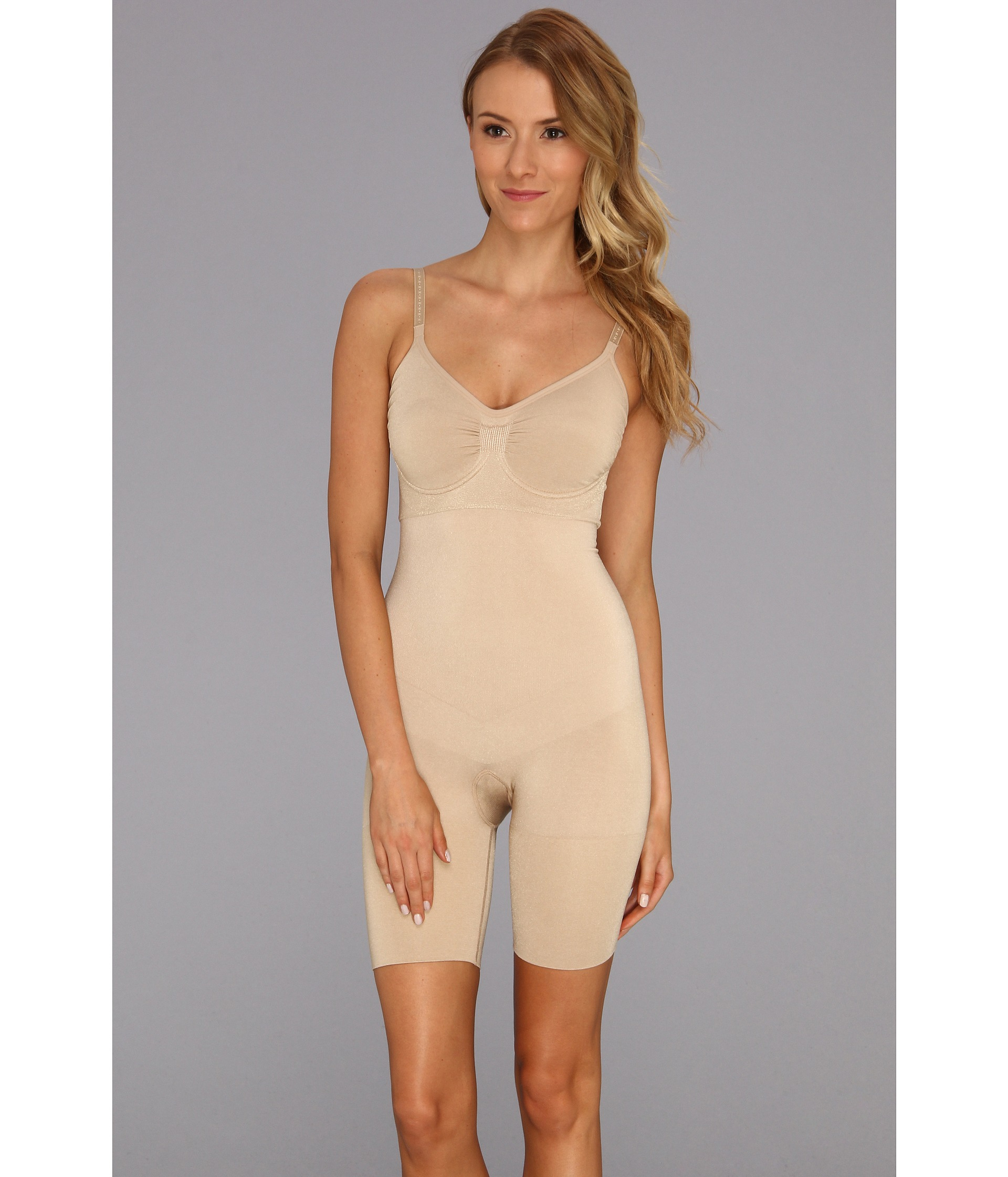 20a78480ca1c7 Lyst - Spanx Slim Cognito Shape Suit in Natural