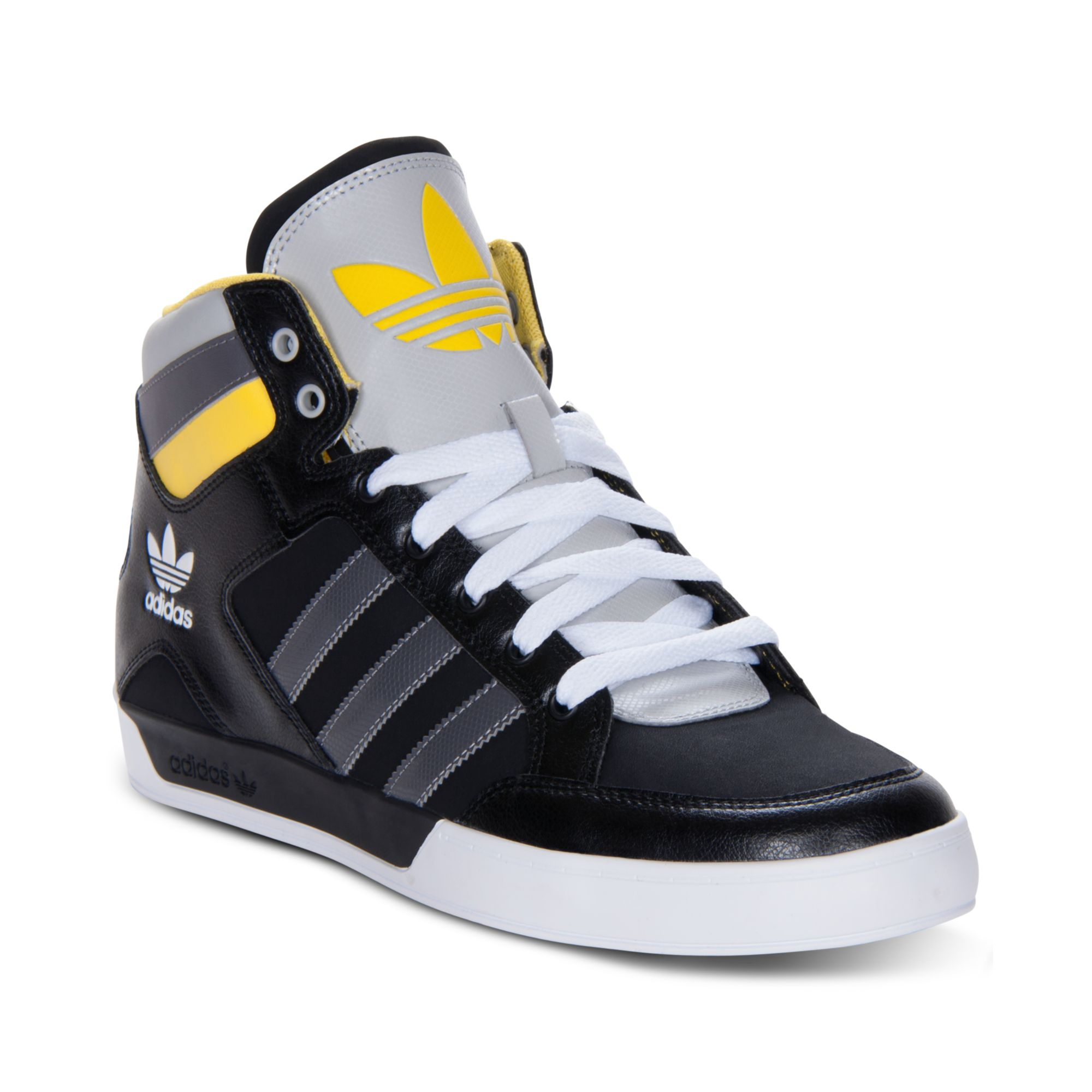 Lyst - adidas Originals Hard Court Hi Casual Sneakers in Black for Men 2e7c654cf4734