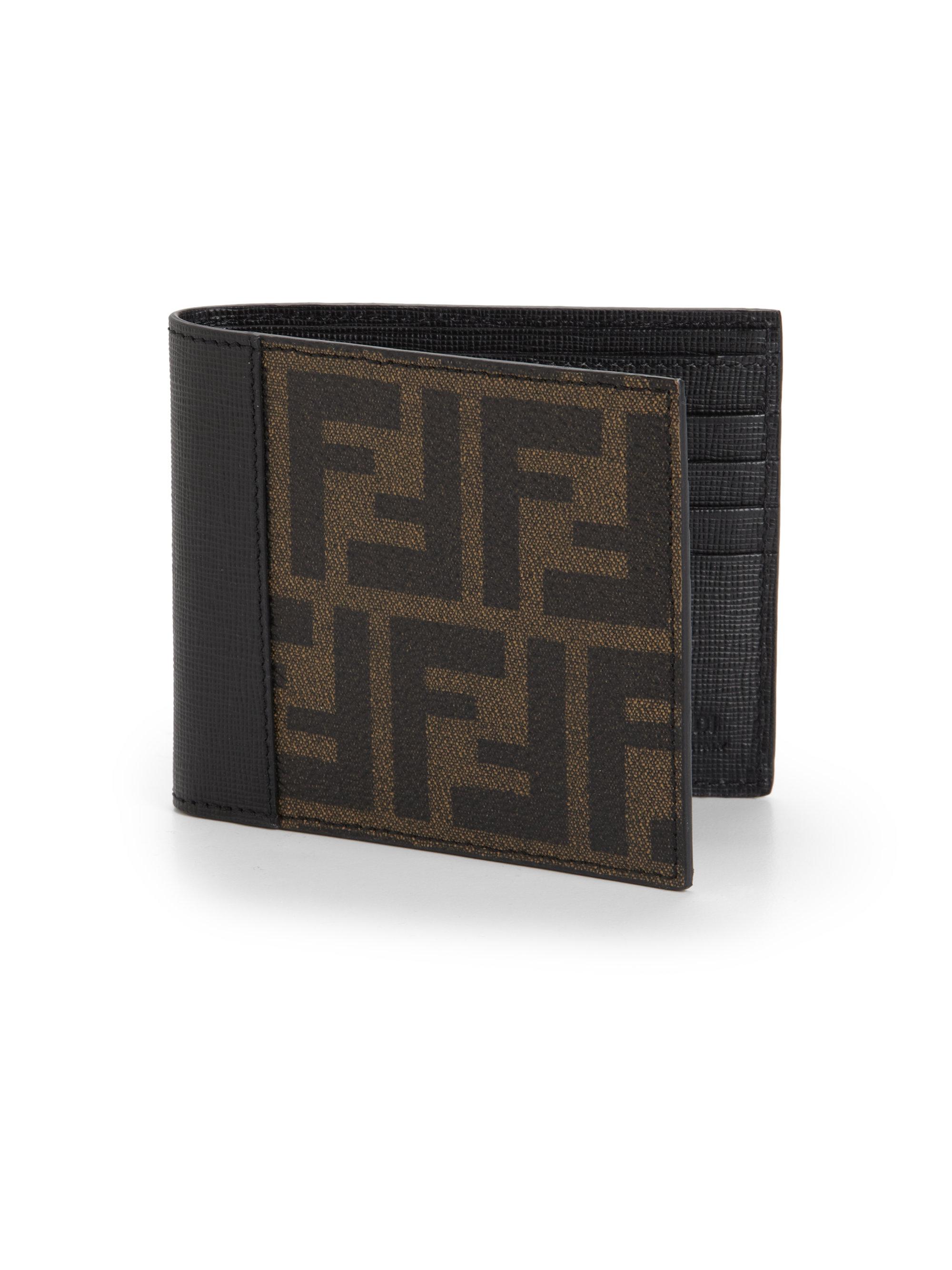 Fendi Zucca Leather Wallet In Brown For Men Lyst