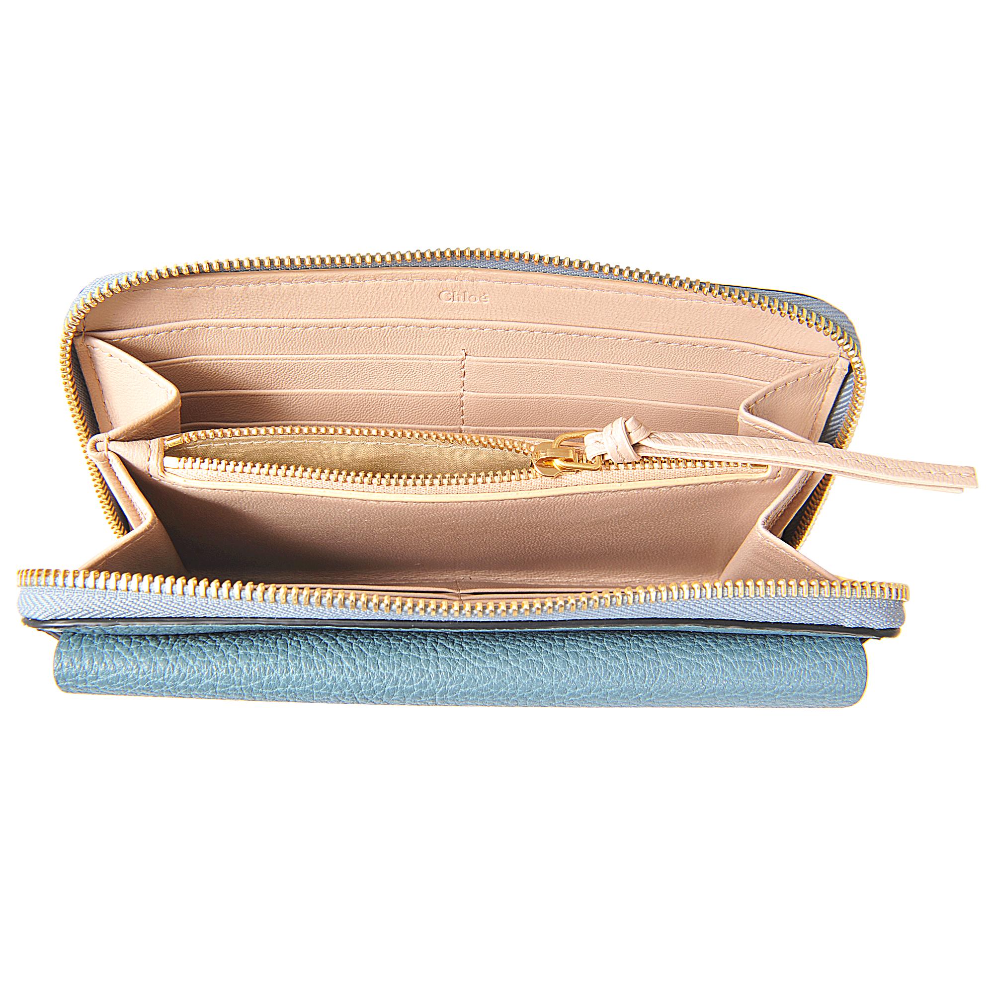 cloe purses - Chlo�� Drew Long Zipped Wallet in Teal | Lyst