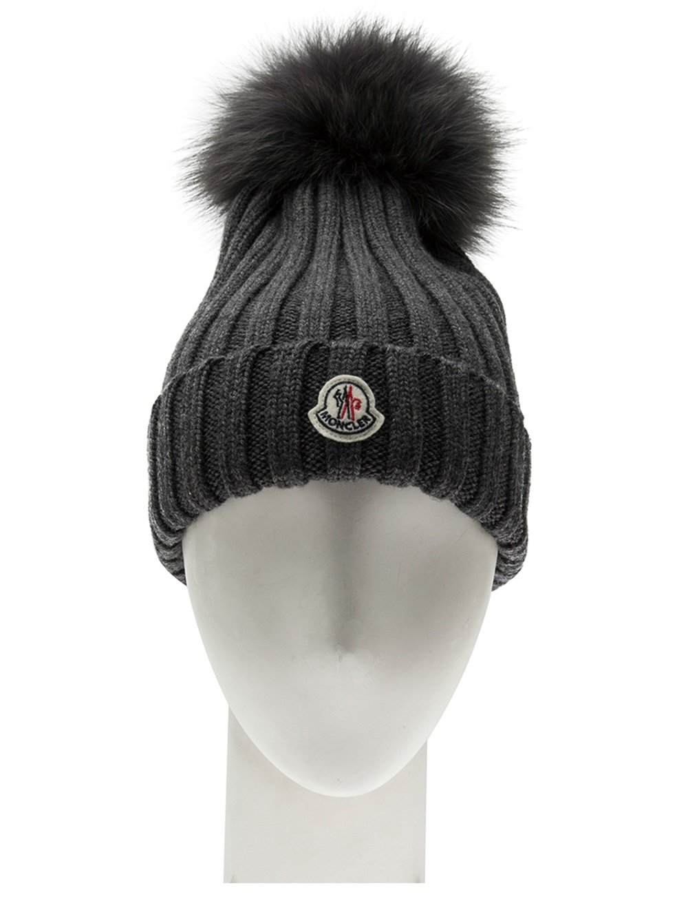 65a27e4ef3b Moncler Knit Hat With Fur Pom Pom thamescommunityfoundation.org.uk