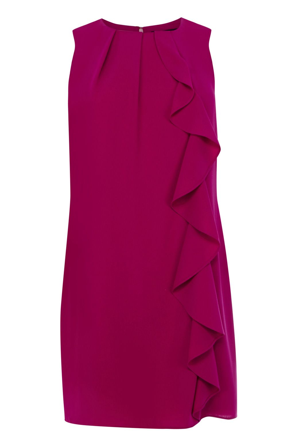 oasis crepe frill shift dress in purple lyst