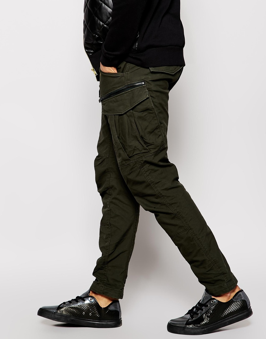 f00c3e47b64 G-Star RAW Cargo Trousers Rovic Zip 3d Tapered Fit in Green for Men ...