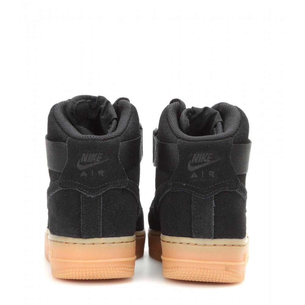 Lyst Nike Air Force 1 Suede High Top Sneakers In Black