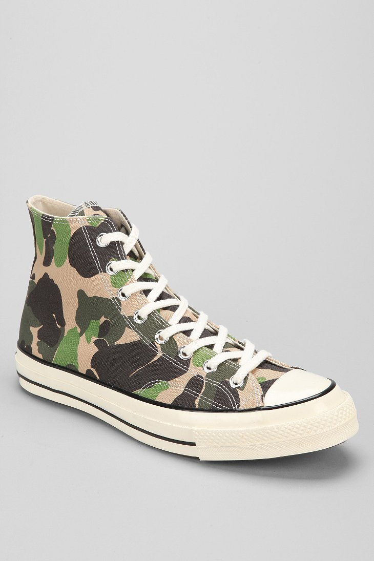 78194dfeb116 Lyst - Converse Chuck Taylor All Star 70s Camo High Top Sneaker in ...