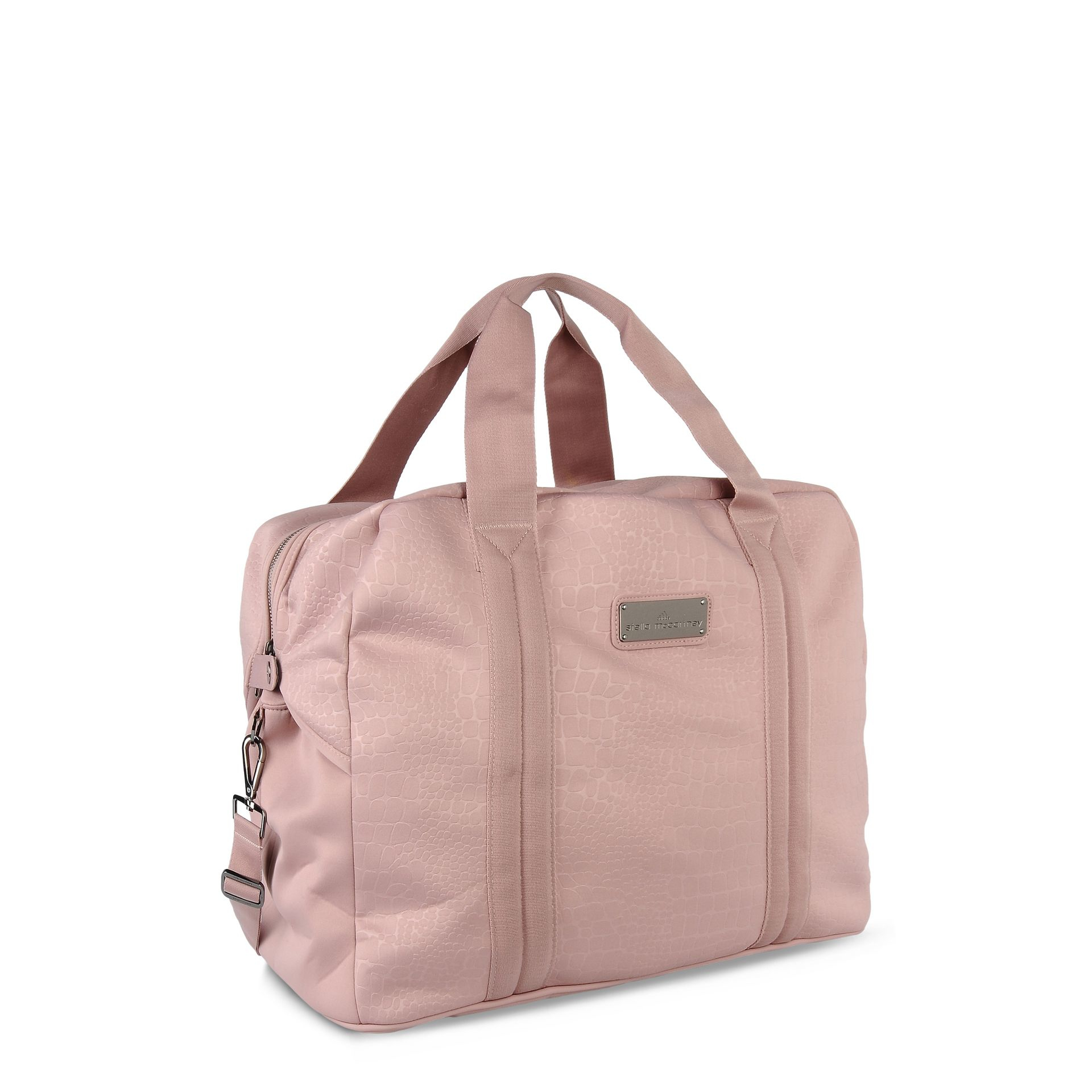 Lyst - adidas By Stella McCartney Pink Essentials Sports Bag in Pink ebb9fa140f84c