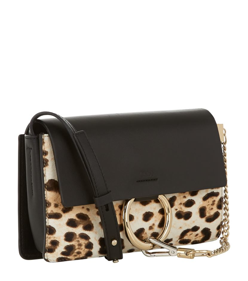 Chlo�� Faye Small Leopard-Print Leather Bag in Animal | Lyst
