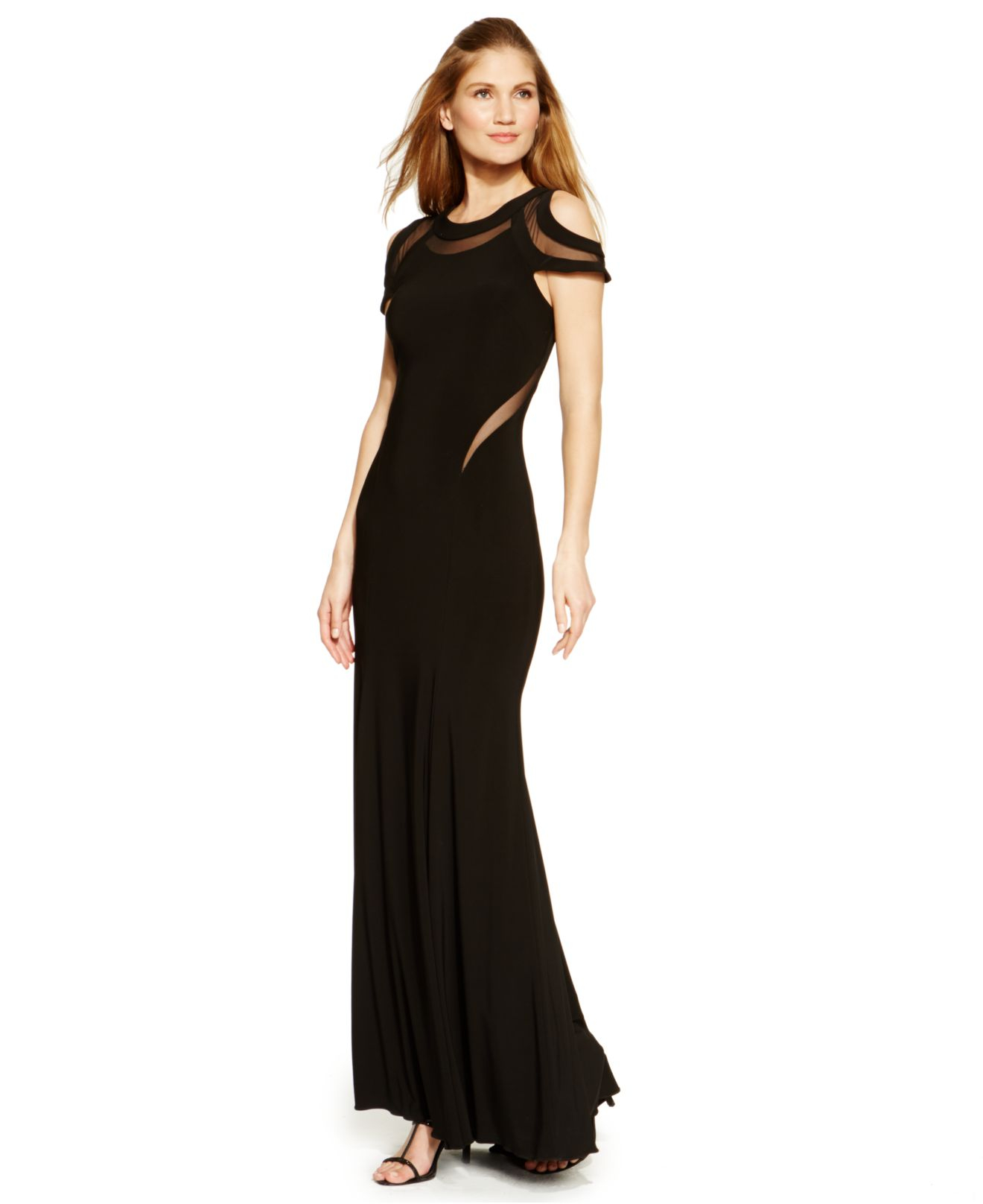 Xscape Sleeveless Glitter Lace Mermaid Gown | Dress images