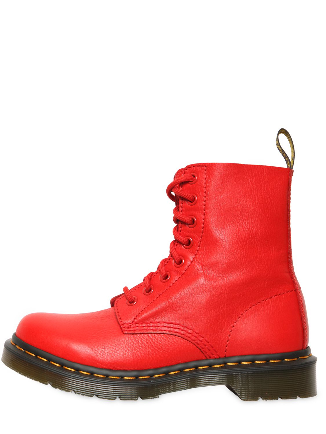 Lyst - Dr. Martens 30mm Core Pascal Soft Leather Boots in Red 79169d7c5