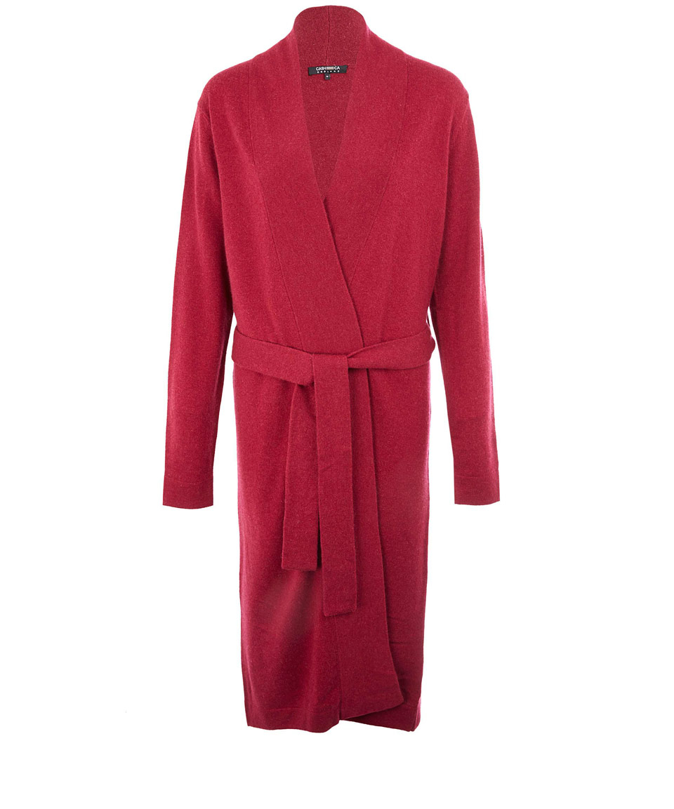 Lyst - Cash Ca Burgundy Cashmere Dressing Gown in Red