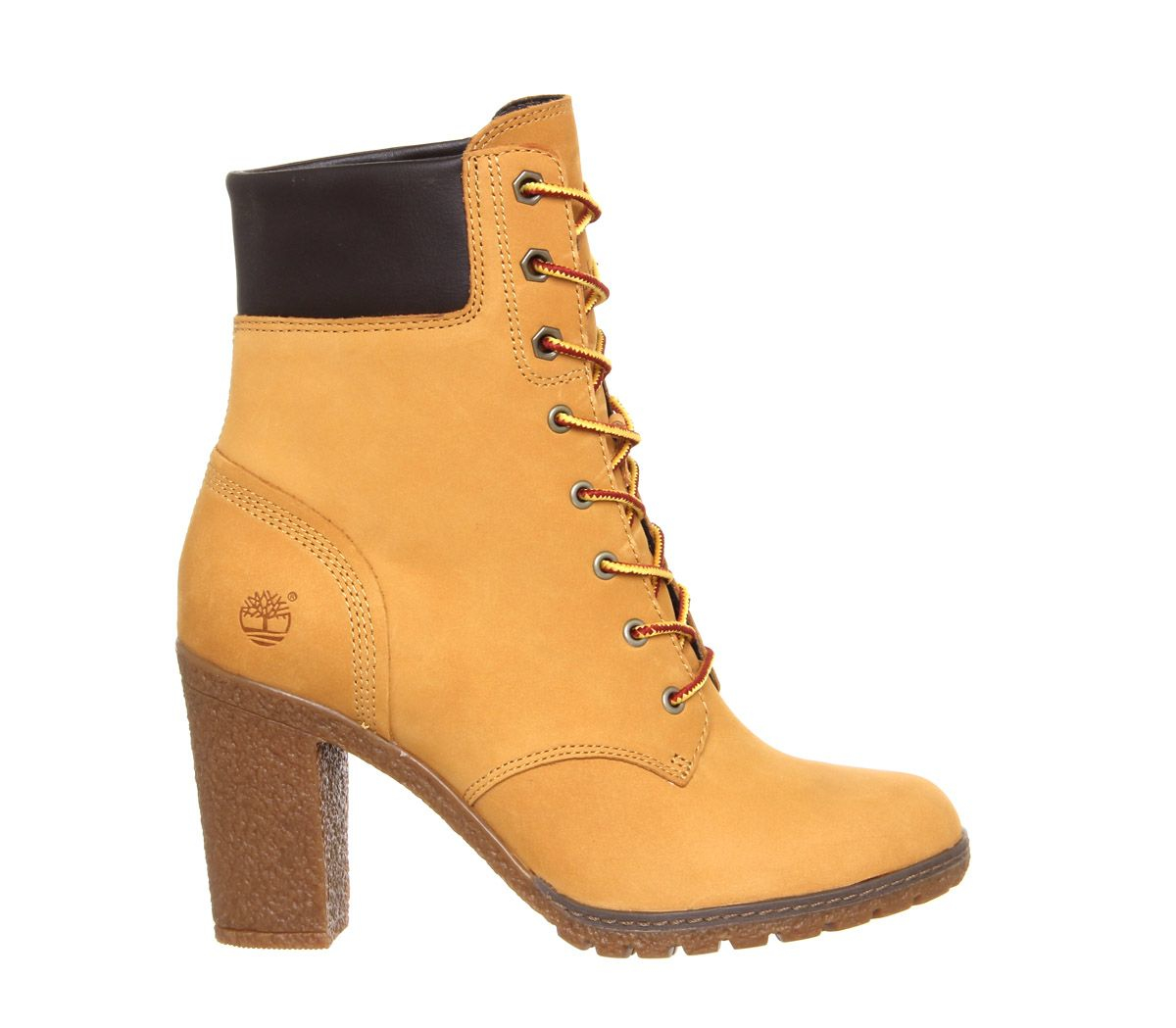 tan timberland heels boots