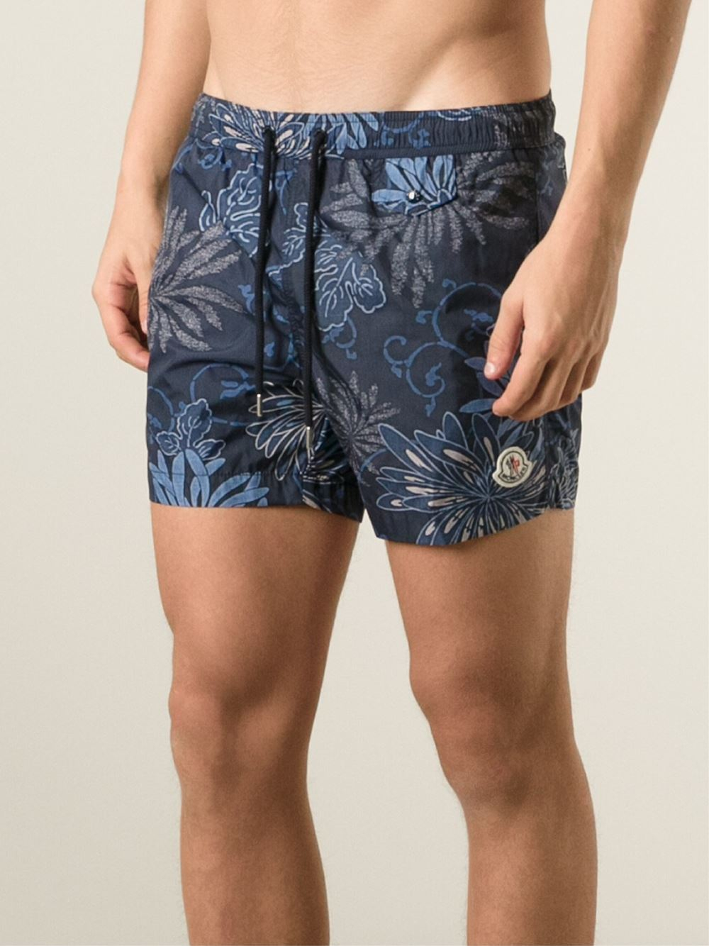 7942f0b30c Moncler Floral Print Swimming Shorts in Blue for Men - Lyst