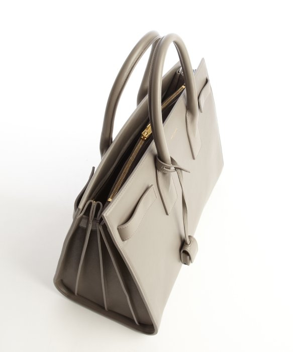 tags for handbags - classic baby sac de jour bag in fog leather