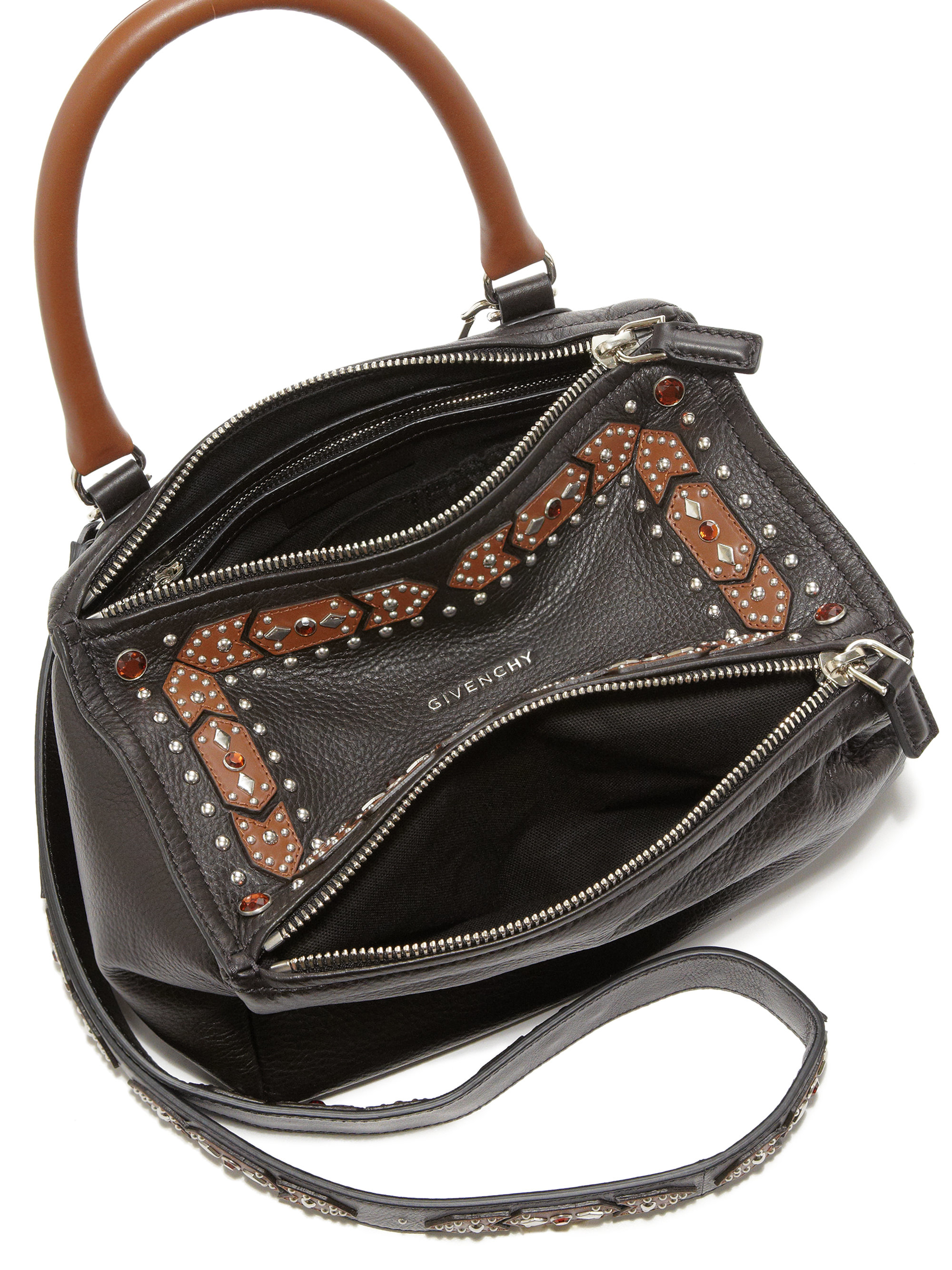 edd0e002b8e2 Lyst - Givenchy Pandora Small Studded Leather Shoulder Bag in Black