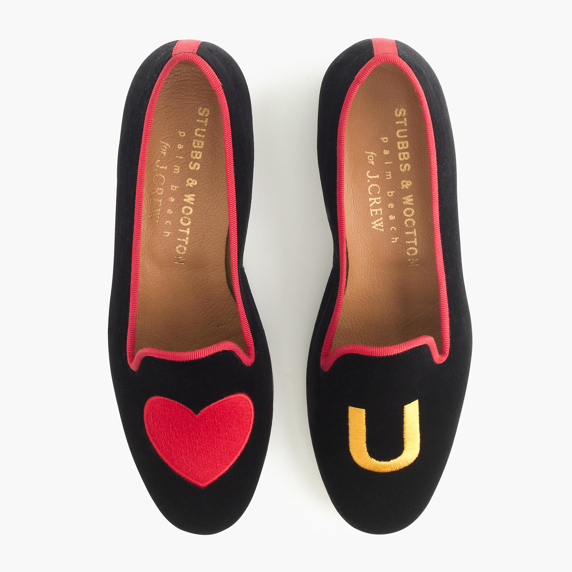 Stubbs wootton velvet slippers in black lyst for J crew bedroom slippers