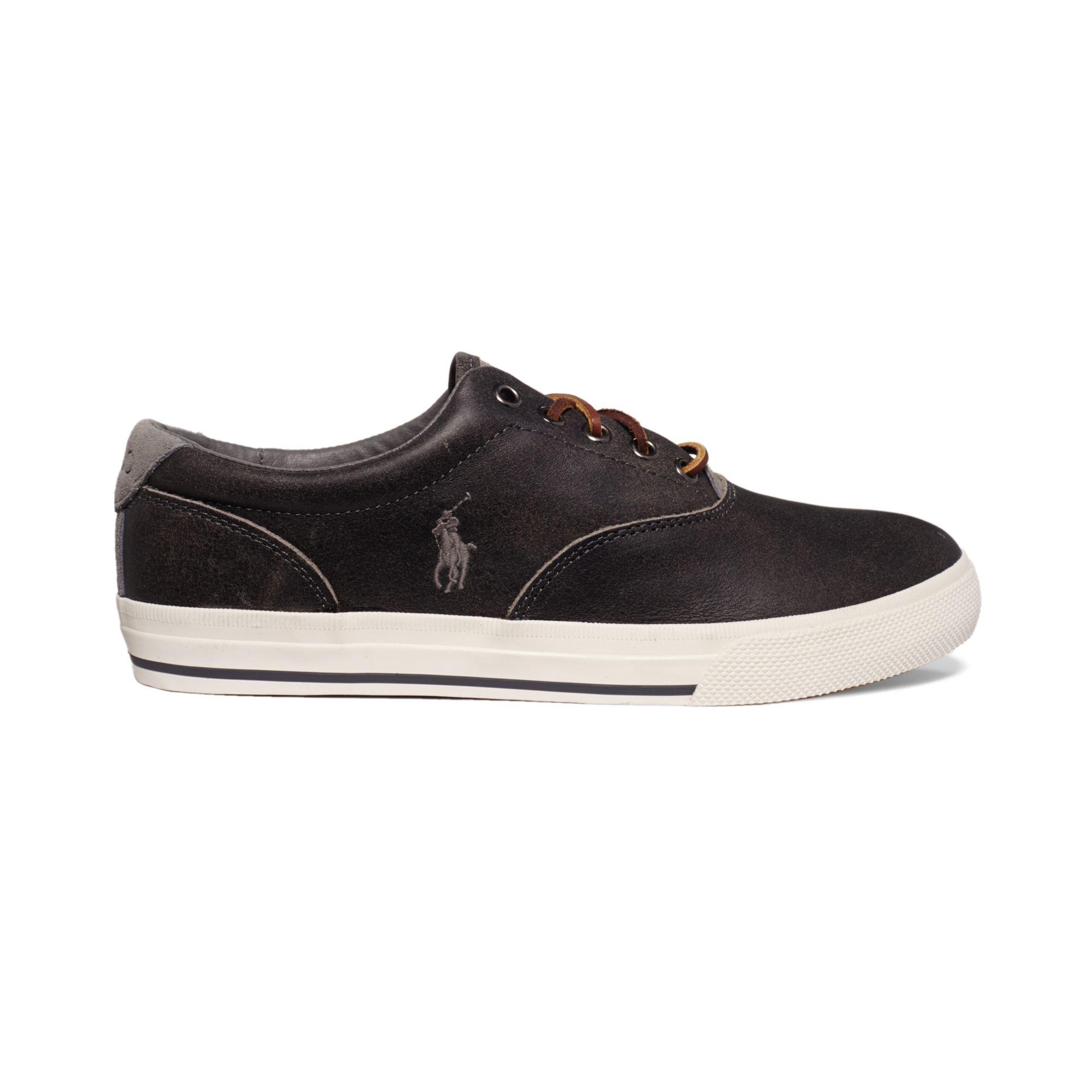 ralph lauren vaughn sneakers in black for men lyst. Black Bedroom Furniture Sets. Home Design Ideas