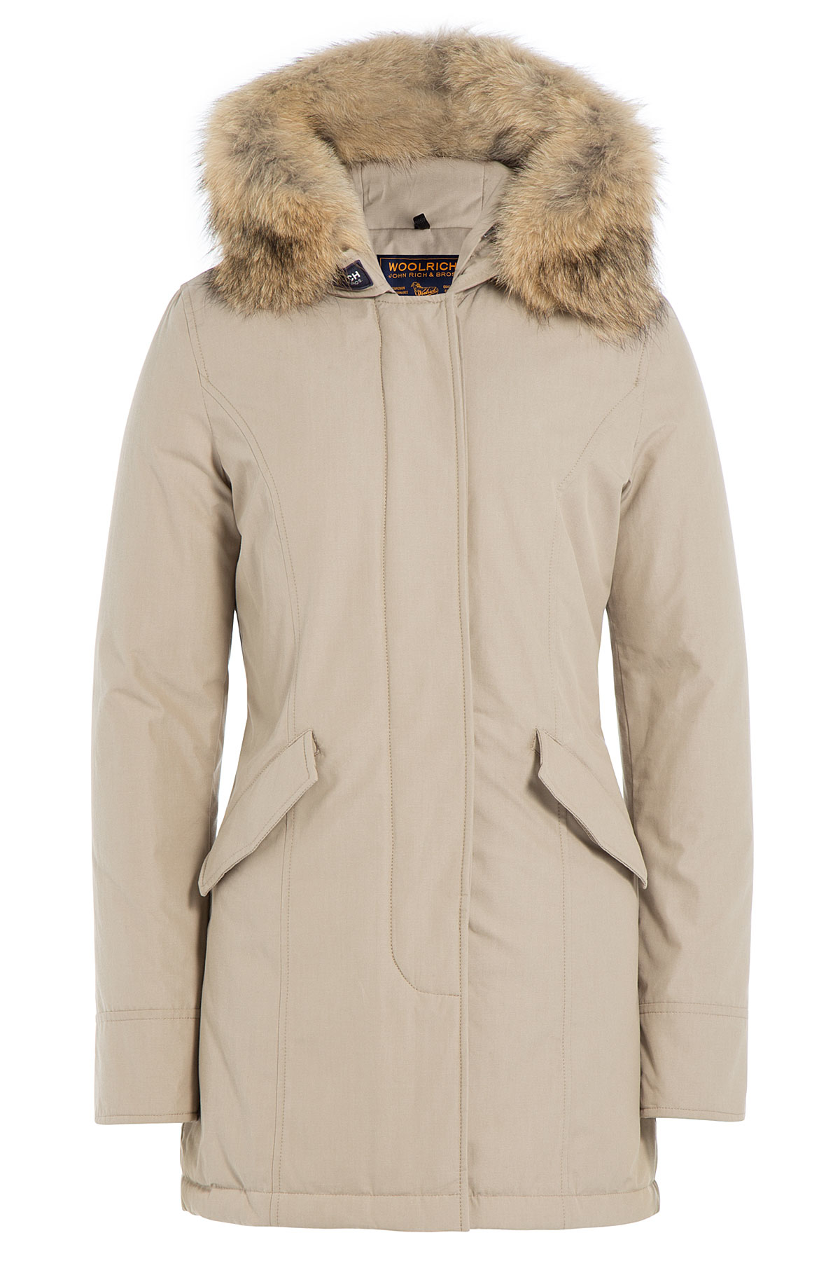 Woolrich Byrd Cloth Arctic Down Parka With Fur Trimmed