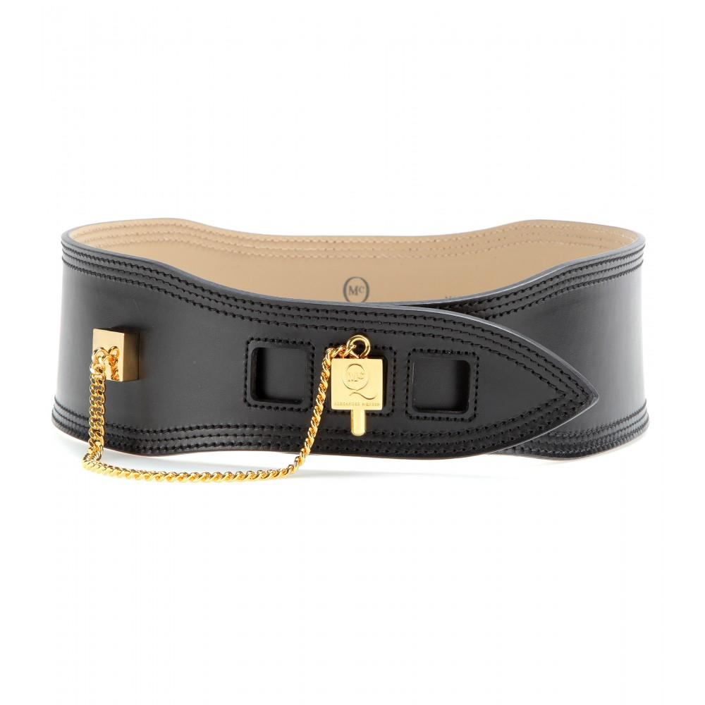 Leather Waist Belt - Black Alexander McQueen vpicVP