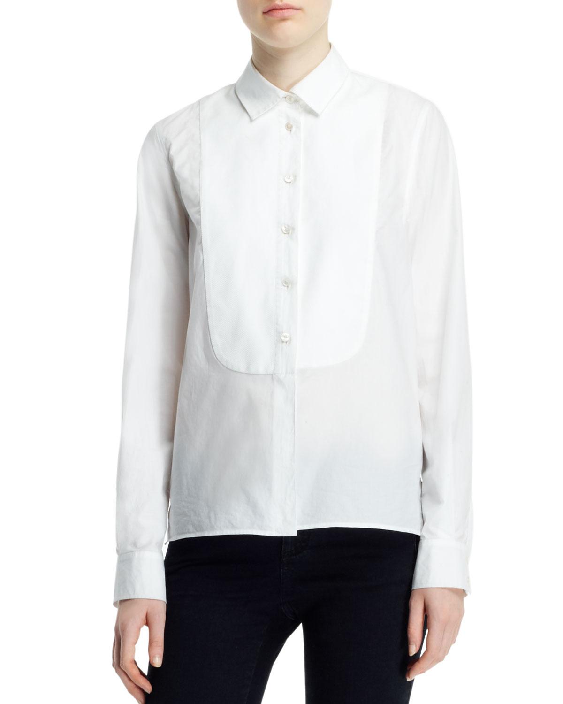 White Tuxedo Blouse 88