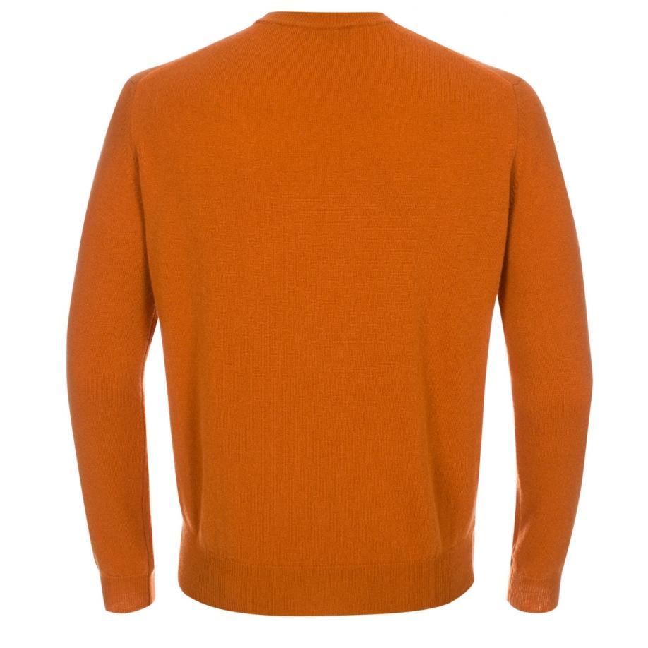 Lyst Paul Smith Mens Burnt Orange Cashmere Sweater In Orange For Men