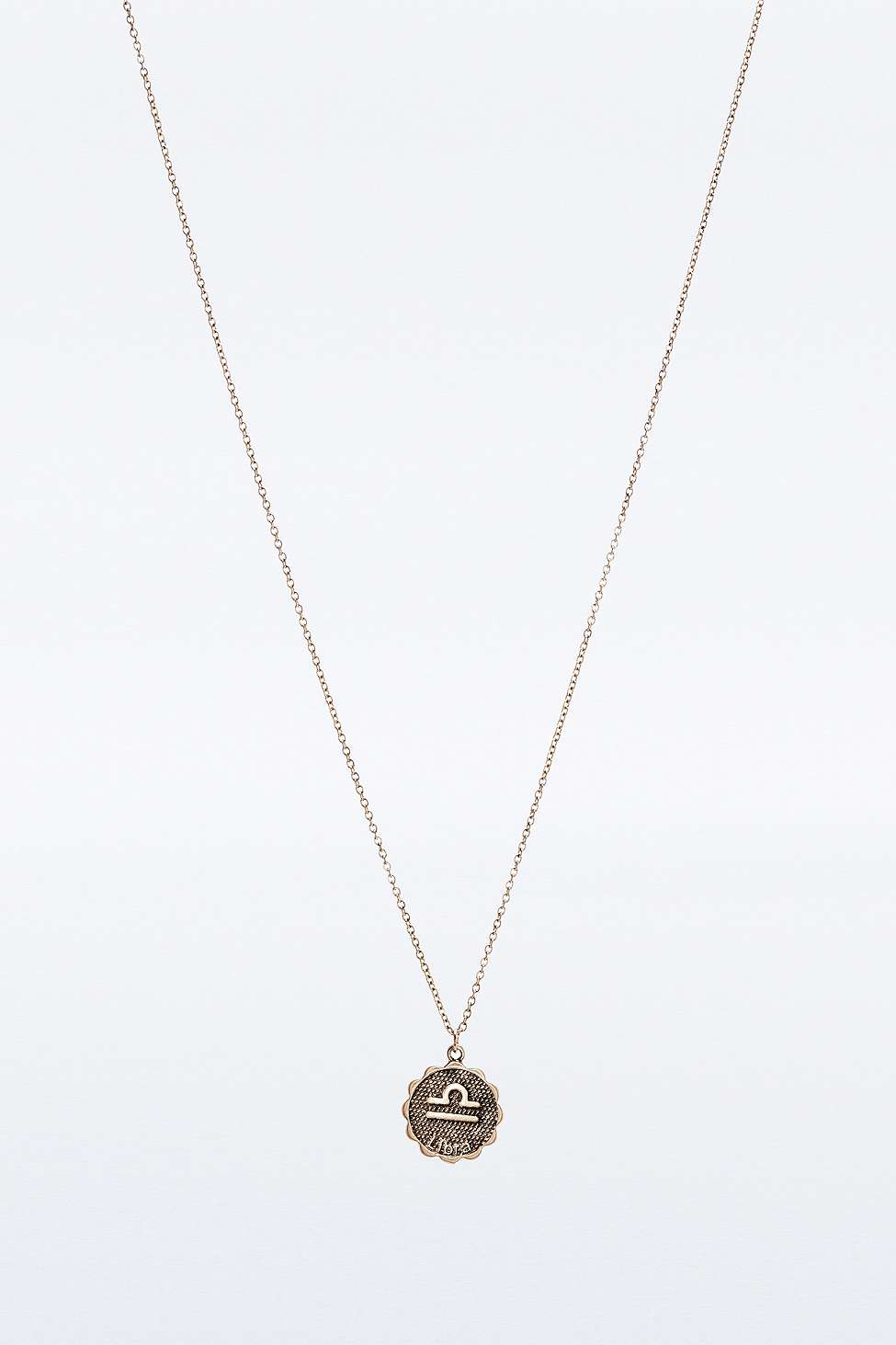 Urban outfitters Zodiac Charm Necklace in Brown | Lyst