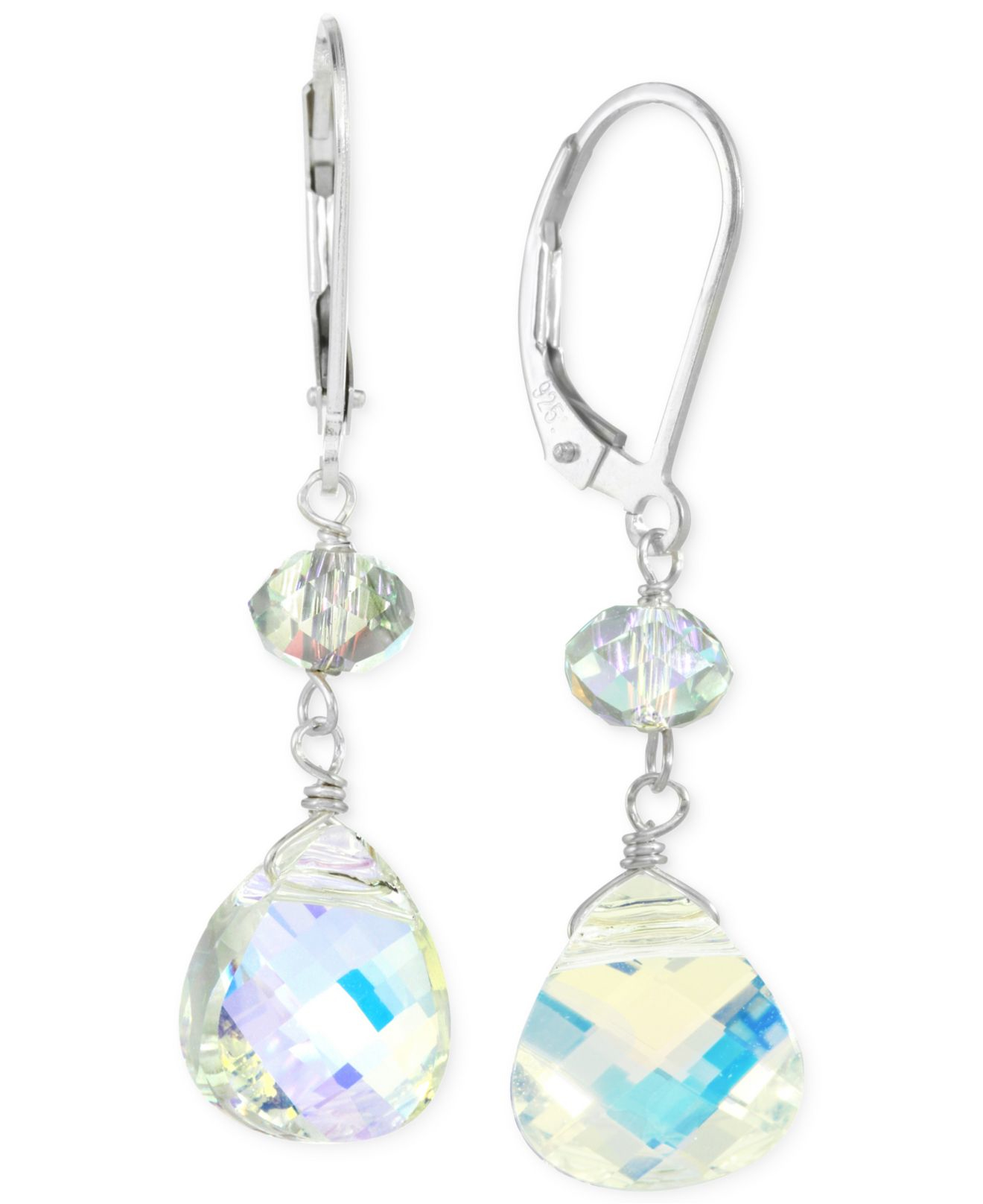 macys jewelry sale macy s swarovski leverback earrings in sterling 2305