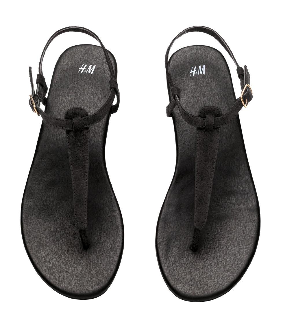 Lyst H Amp M Toe Post Sandals In Black