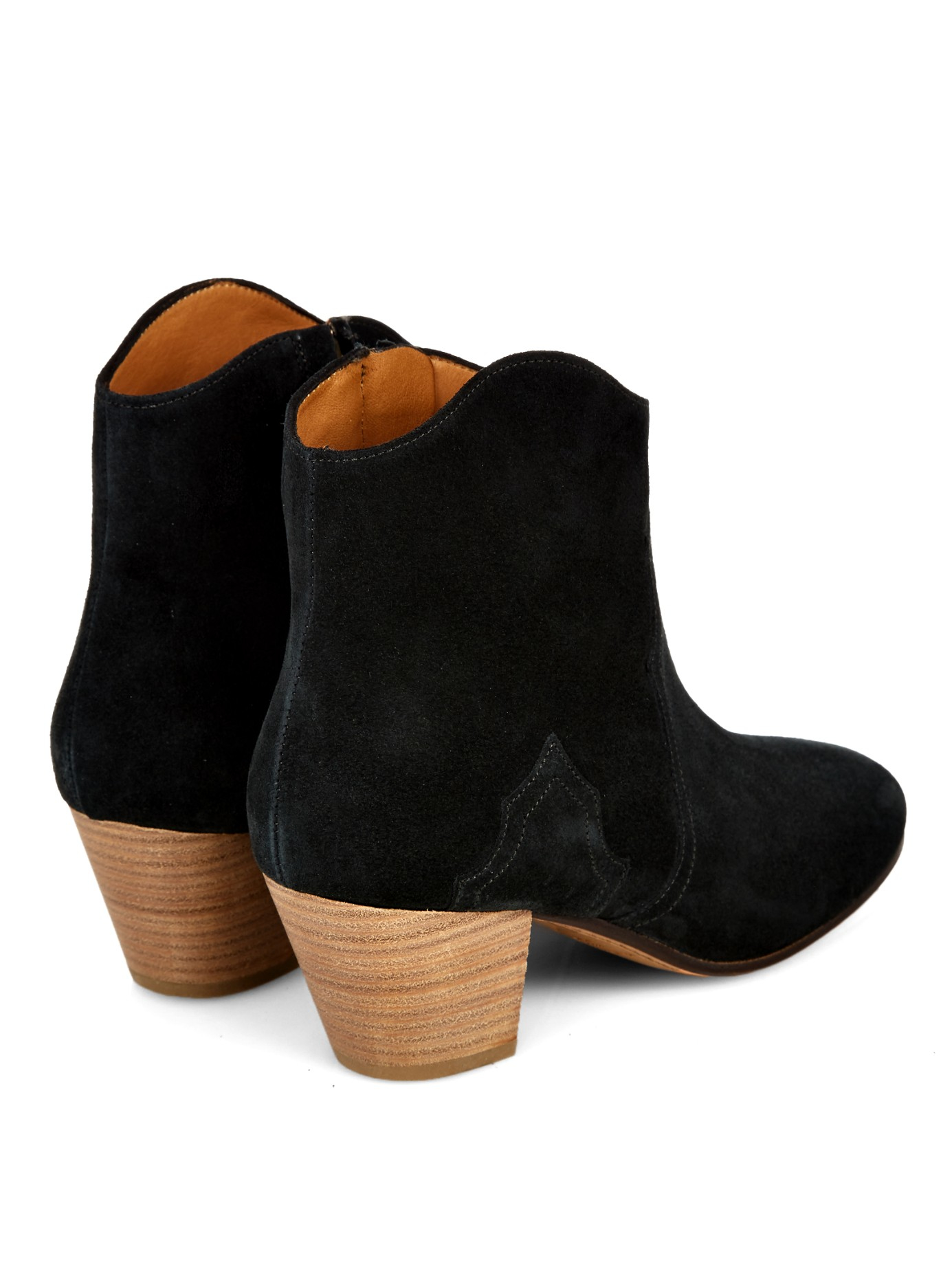 marant 201 toile dicker suede boots in black lyst
