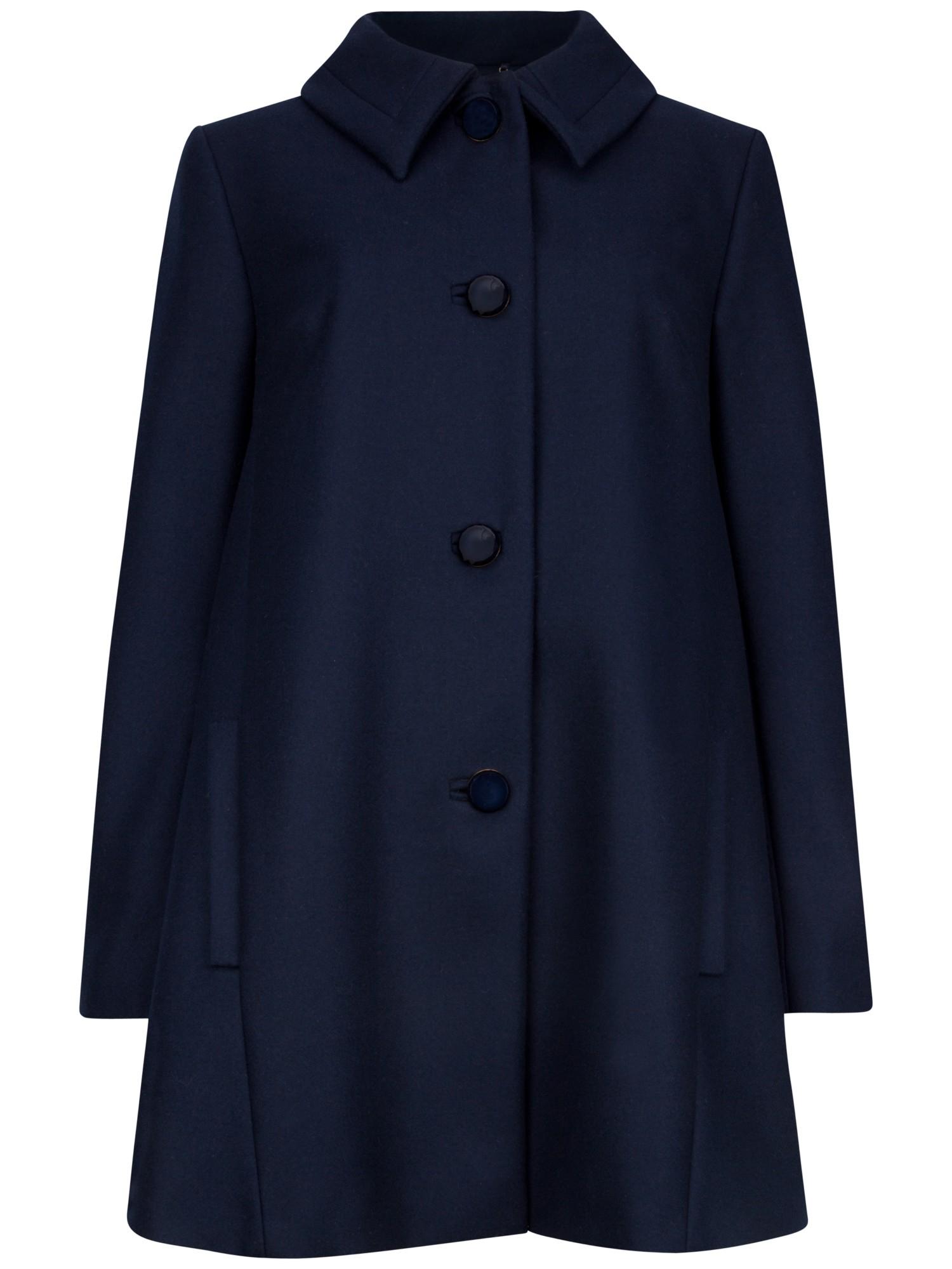 Ted Baker Alay Wool Blend Swing Coat In Blue Lyst