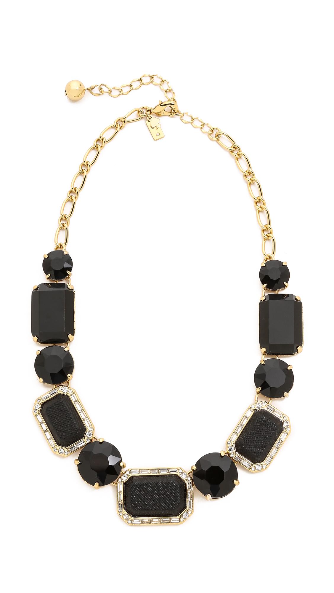 Lyst - Kate Spade New York Jackpot Jewels Necklace - Black