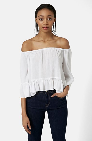 With Paypal Cheap Price Topshop Womens Frill Shoulder Top - Discount Price 5yjcxXDQ