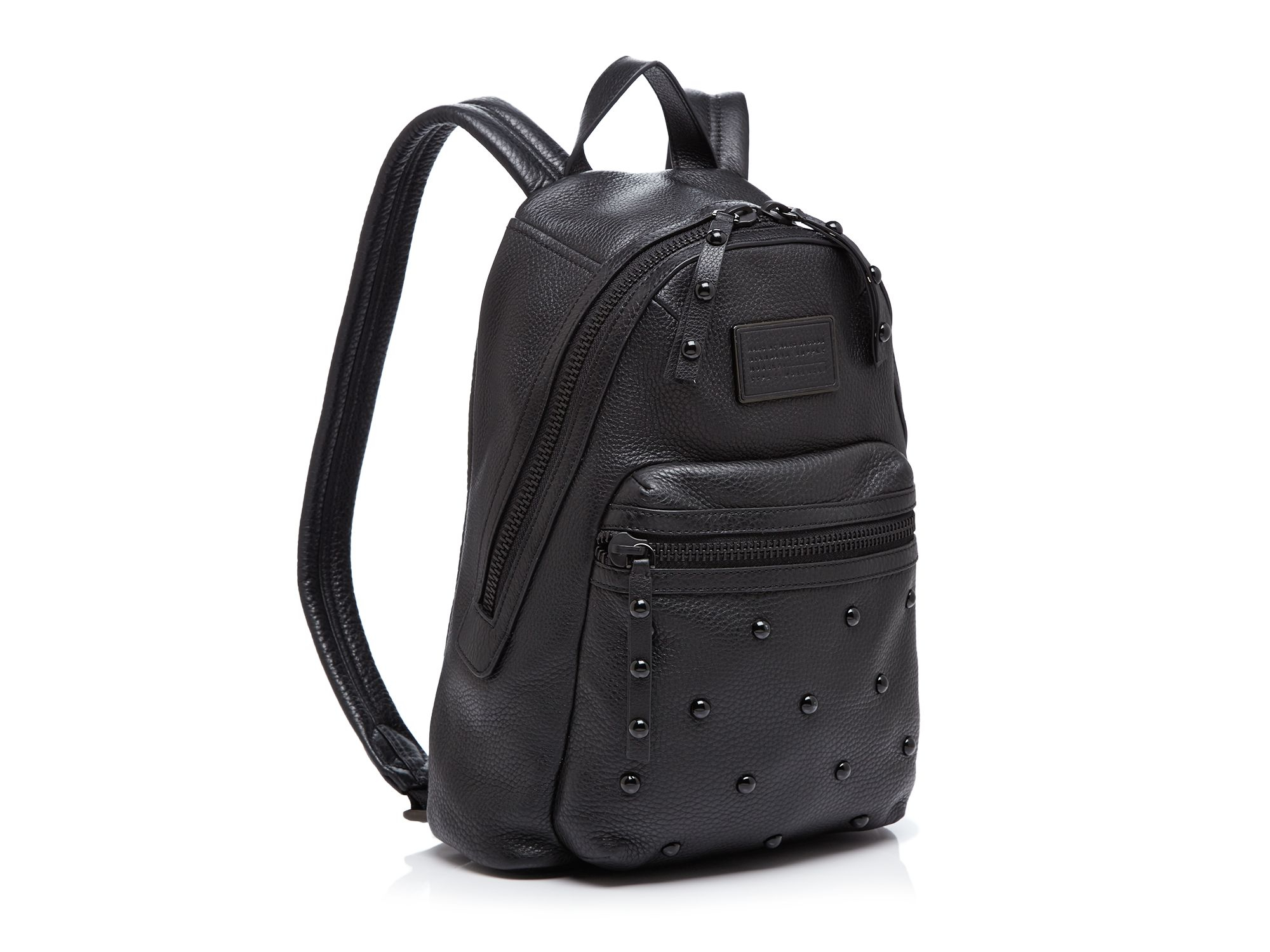 lyst marc by marc jacobs domo biker stud backpack in black. Black Bedroom Furniture Sets. Home Design Ideas