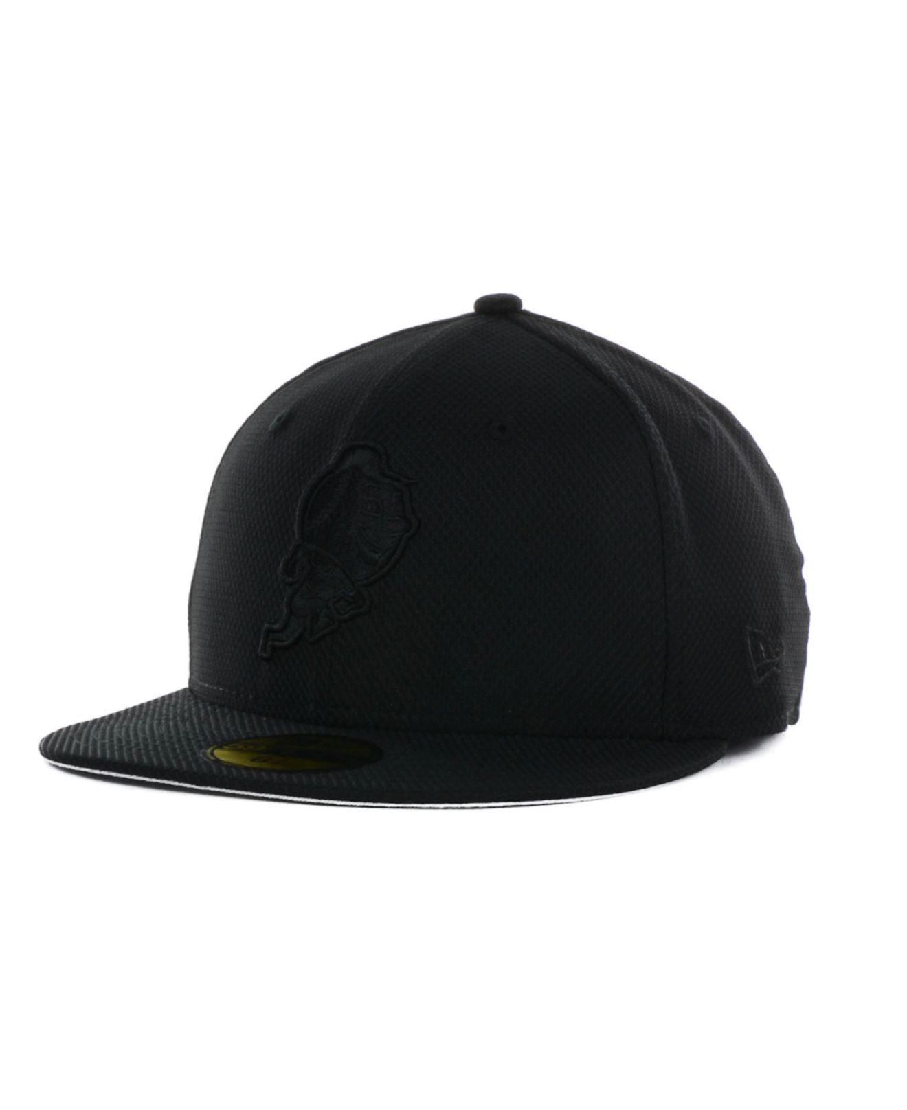 659535b36cf ... canada chic new era era black white york mets mlb diamond hookturn 59fifty  cap new glittering