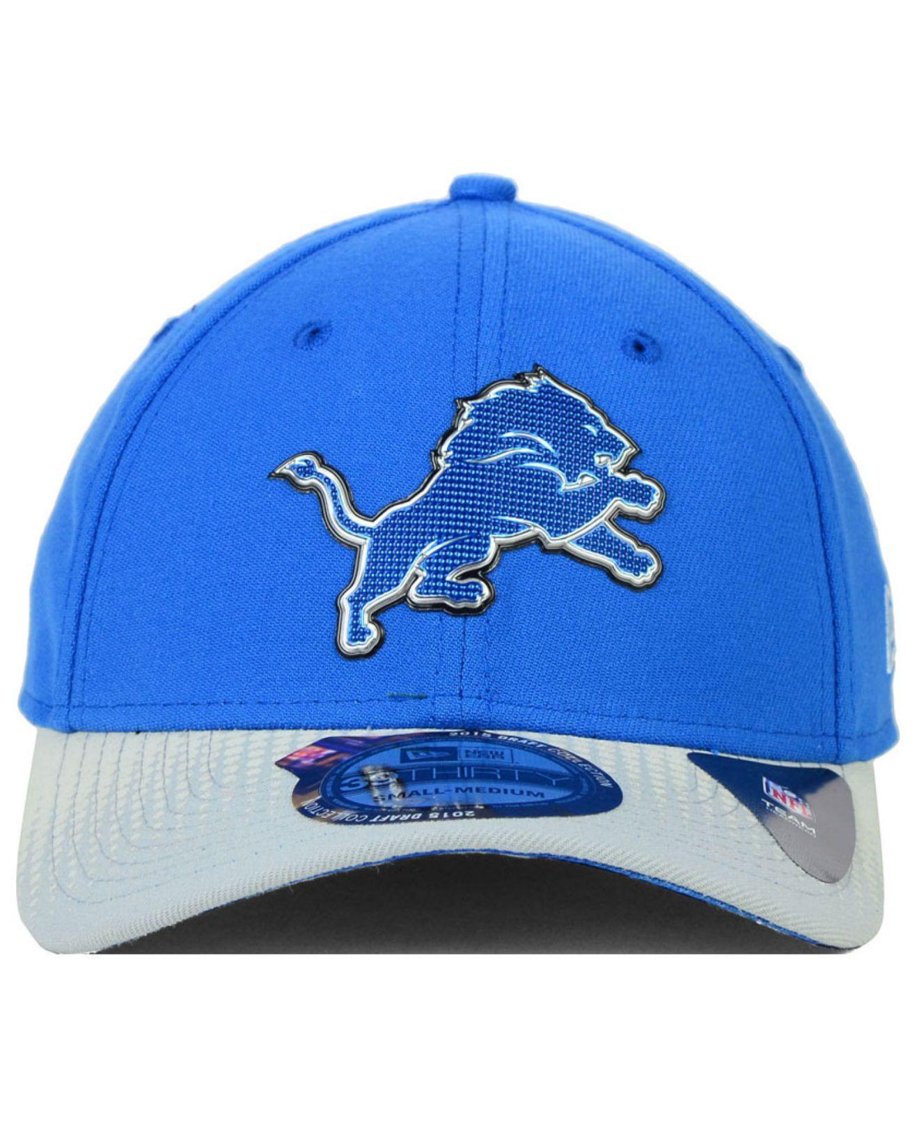 Lyst - Ktz Detroit Lions 2015 Nfl Draft 39Thirty Cap in Blue for Men cf229a20198