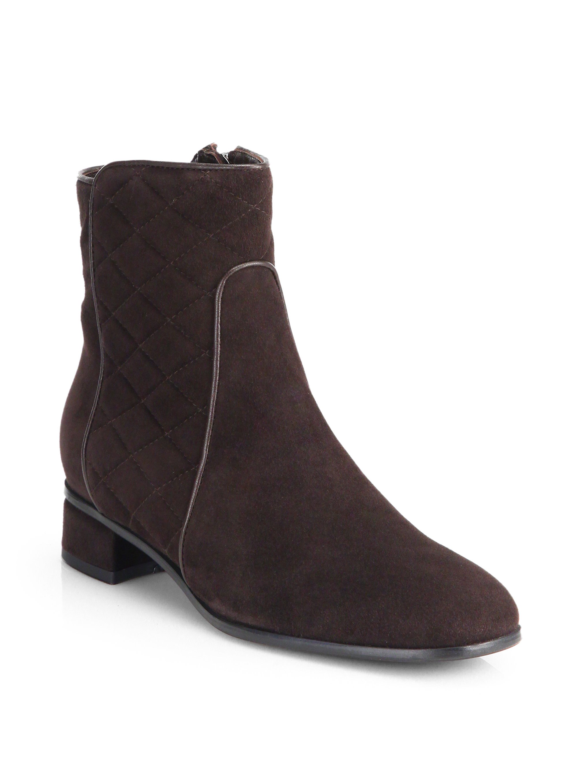 aquatalia by marvin k latifa suede ankle boots in brown