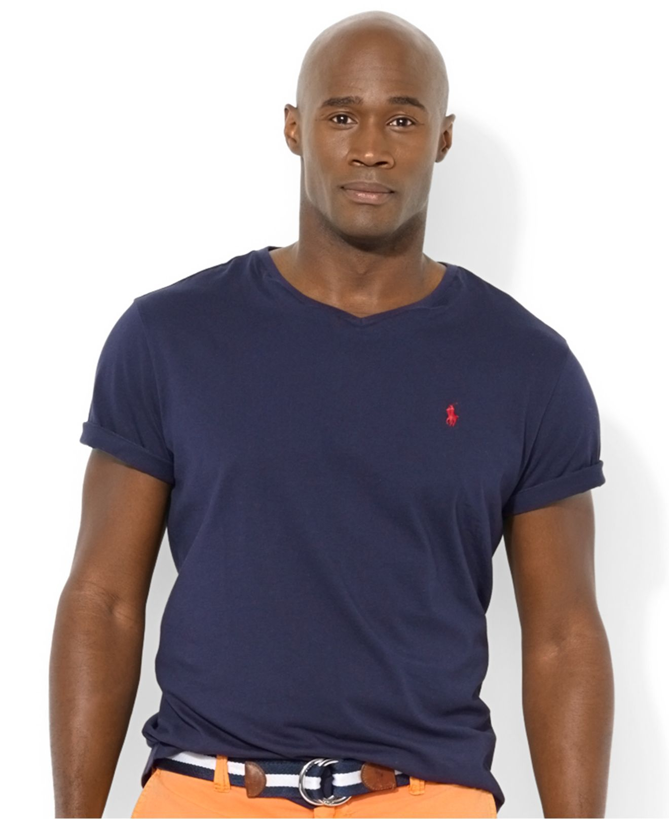 Polo Ralph Lauren Big And Tall Classic Fit V Neck Short