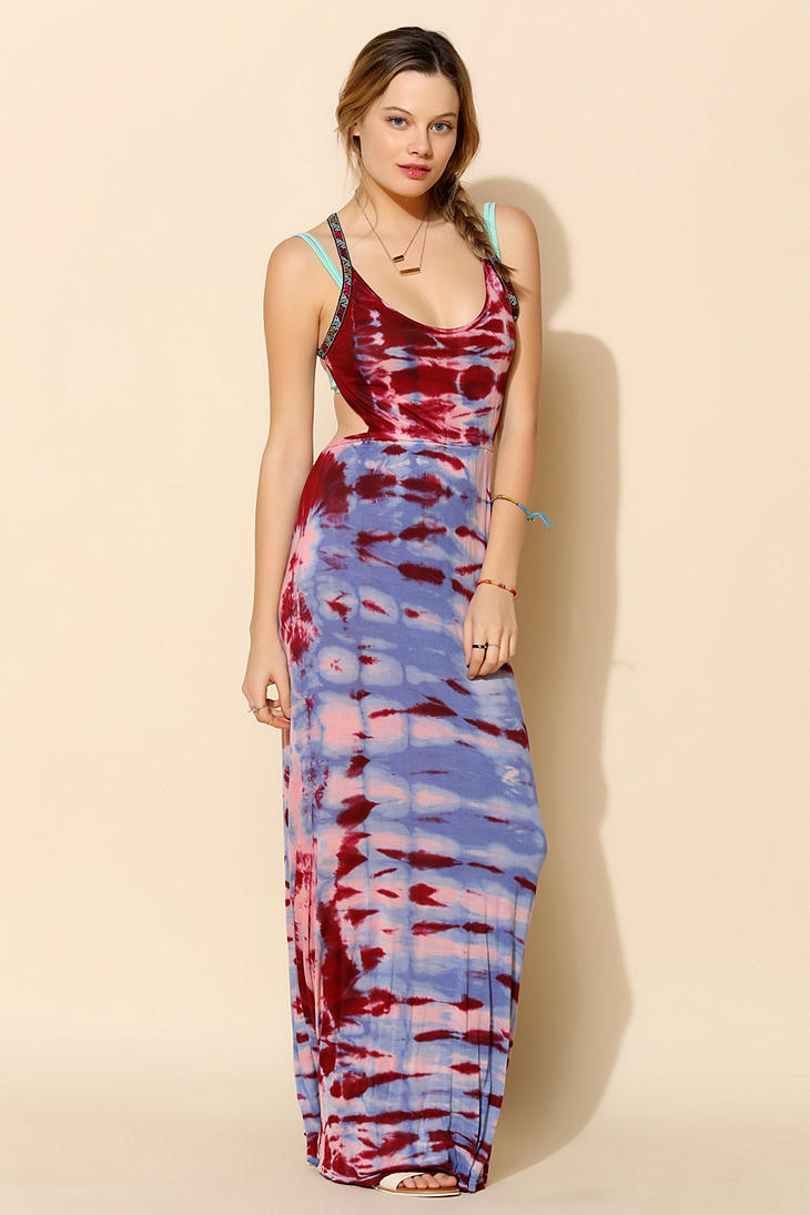 Urban outfitters Ecote Luna Tiedye Maxi Dress   Lyst