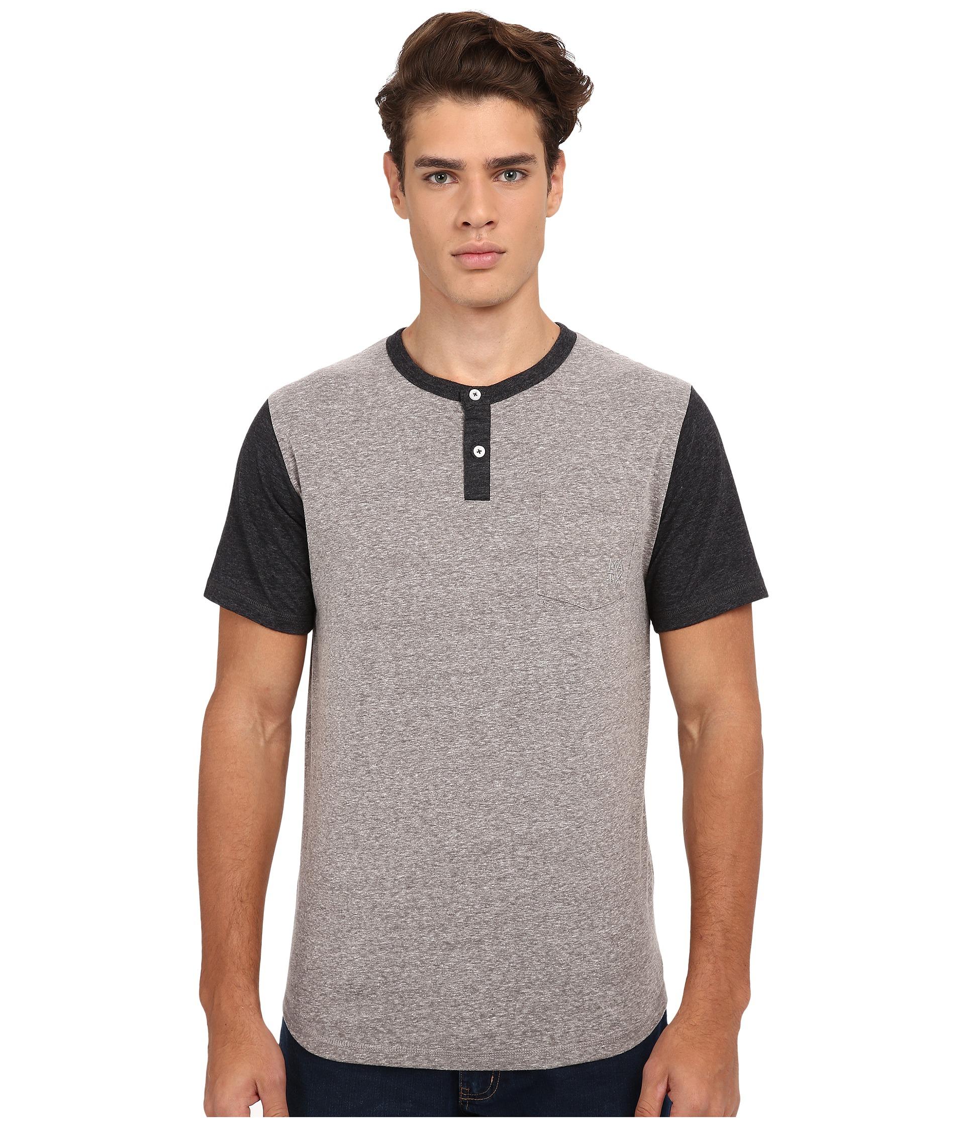 Lyst matix standard short sleeve baseball t shirt in for Short sleeve t shirts with longer sleeves