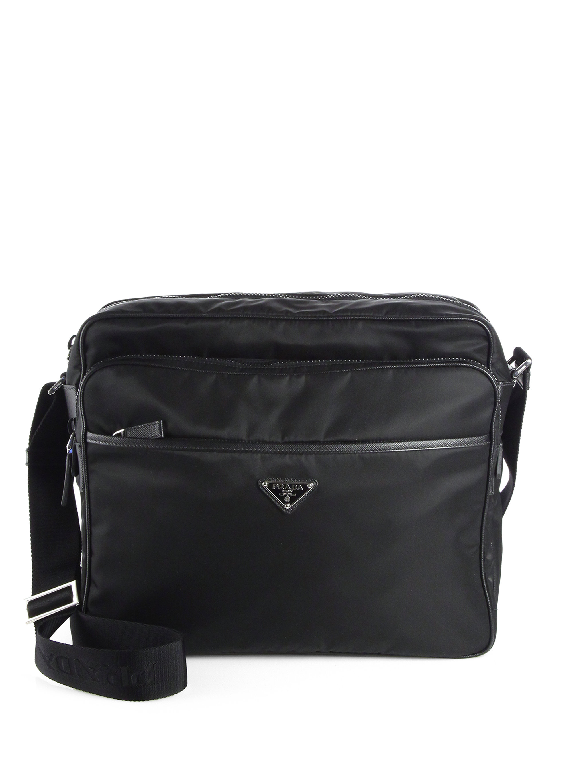 Nylon Messenger Bag Black 78