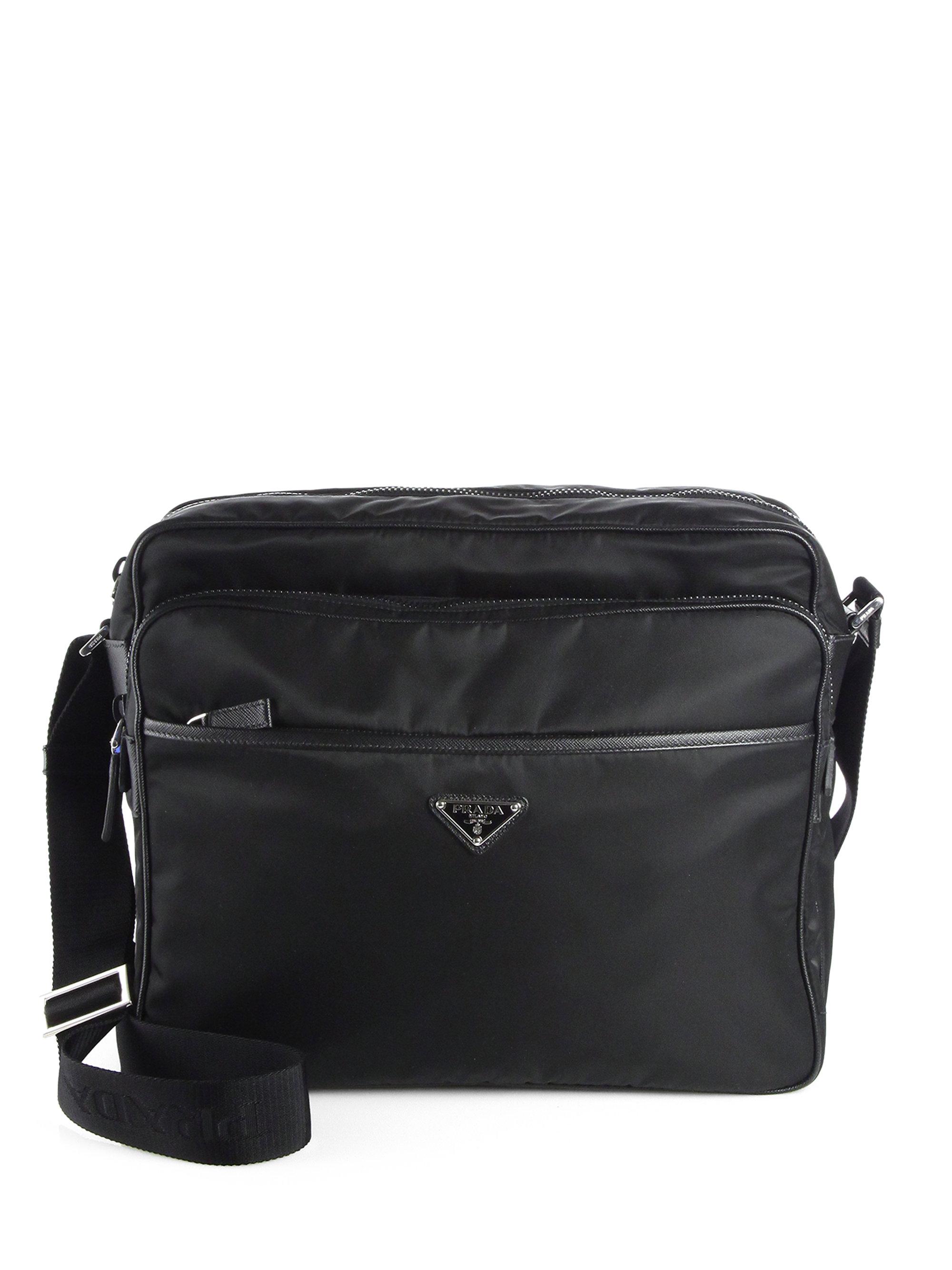Prada Nylon Crossbody Bag In Black For Men Lyst