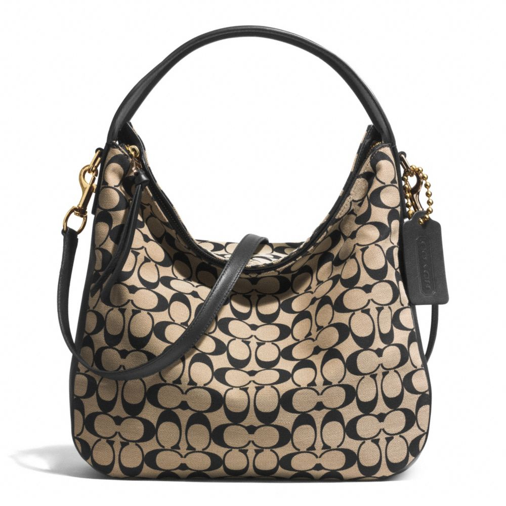 ... discount code for lyst coach sullivan hobo bag in printed signature  fabric in black a6423 f535f c146f93d316dc