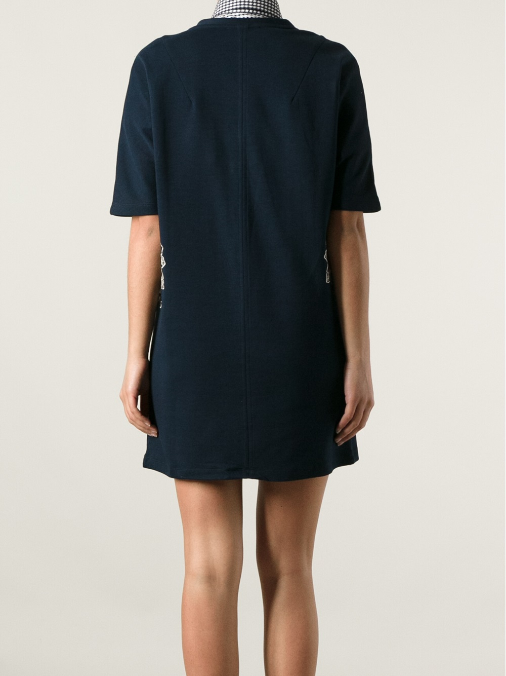 Lyst carven floral embroidered dress in blue